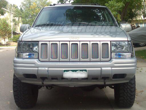 Jeep Grand Cherokee Accessories >> 1996-98 Jeep Grand Cherokee Mesh Grill Insert Kit by customcargrills