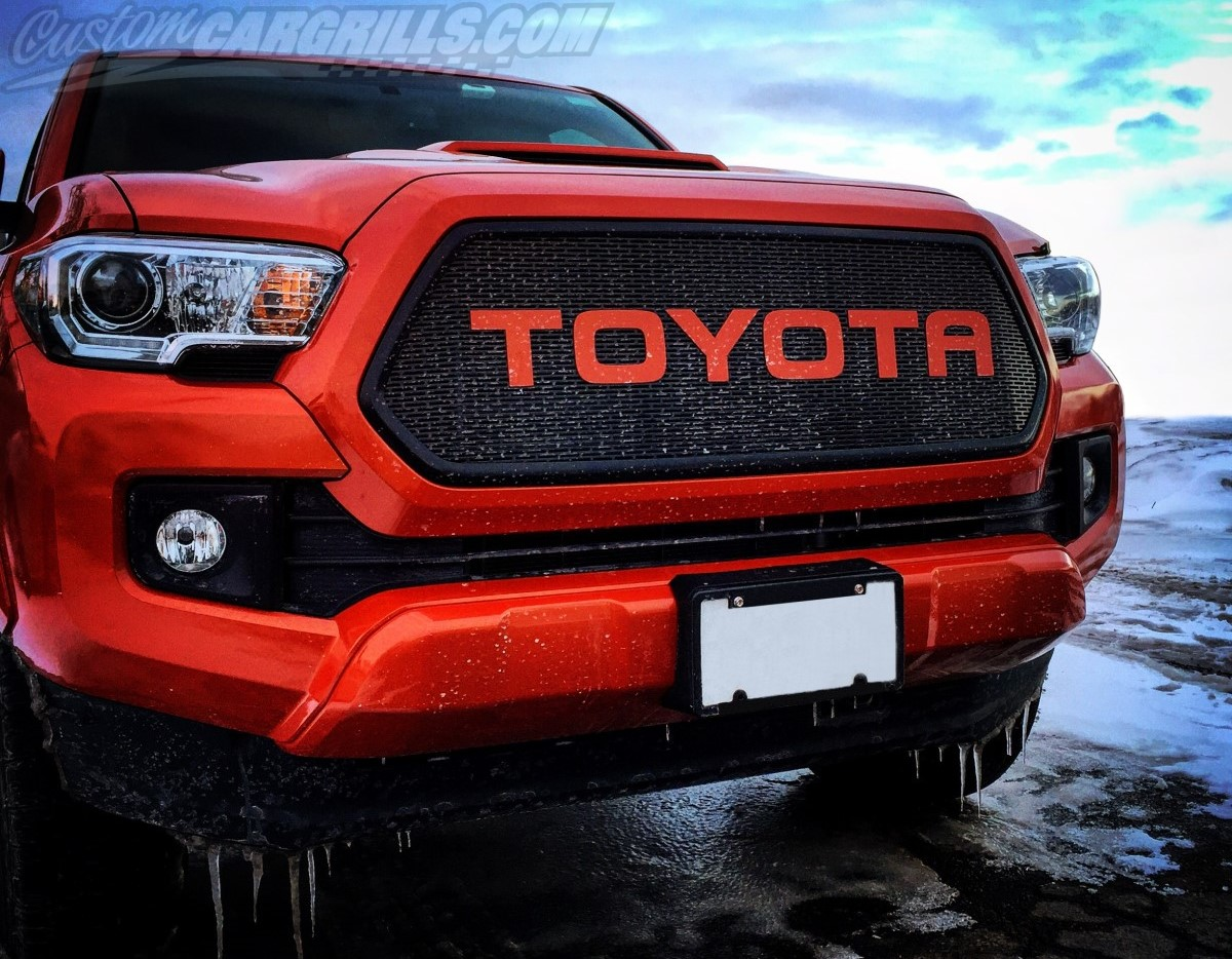 2016 - 2017 Toyota Tacoma Mesh Grill & Bezels by customcargrills