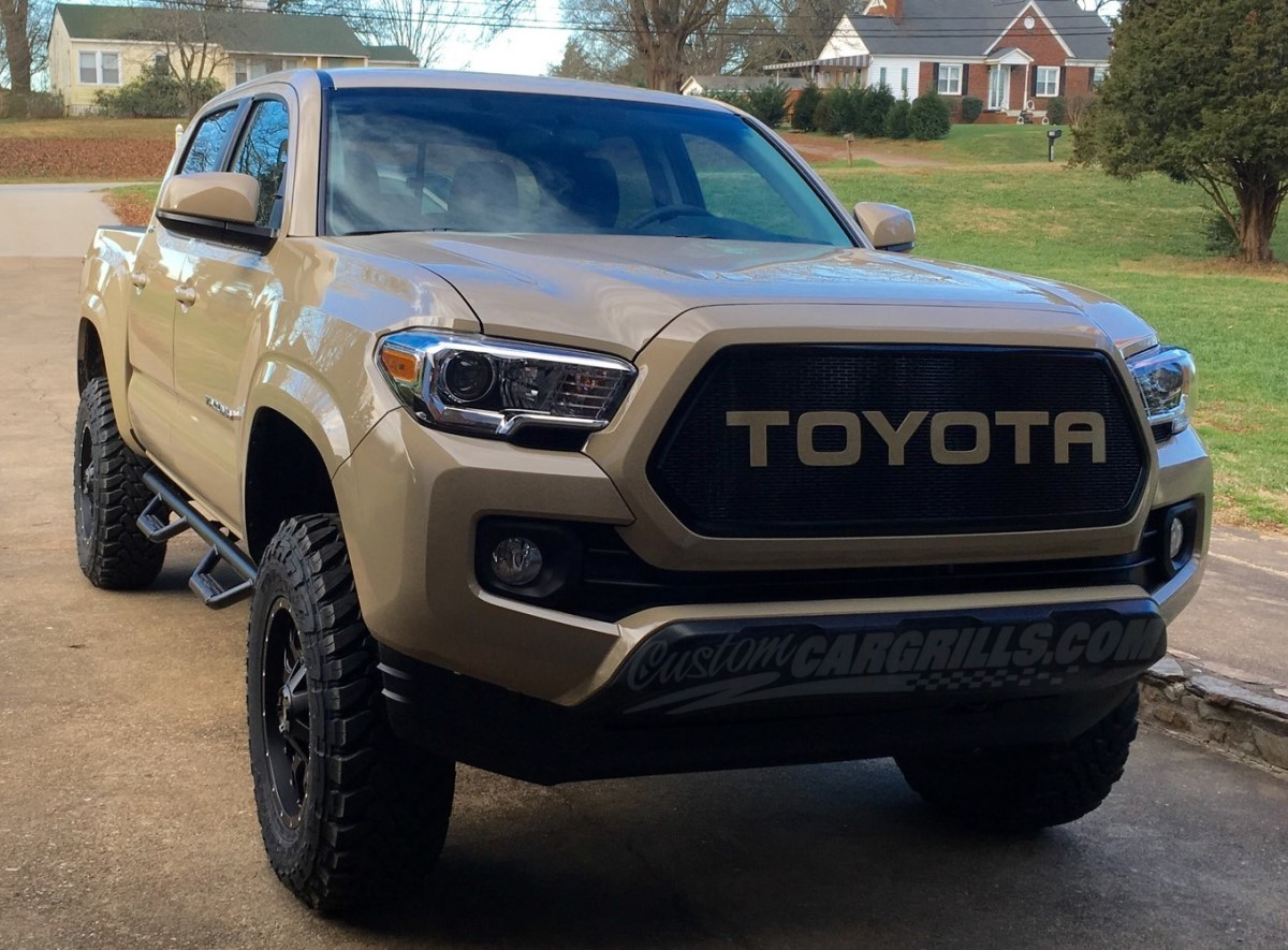 Blue Pearl Tacoma >> 2016 - 2017 Toyota Tacoma Mesh Grill & Bezels by customcargrills