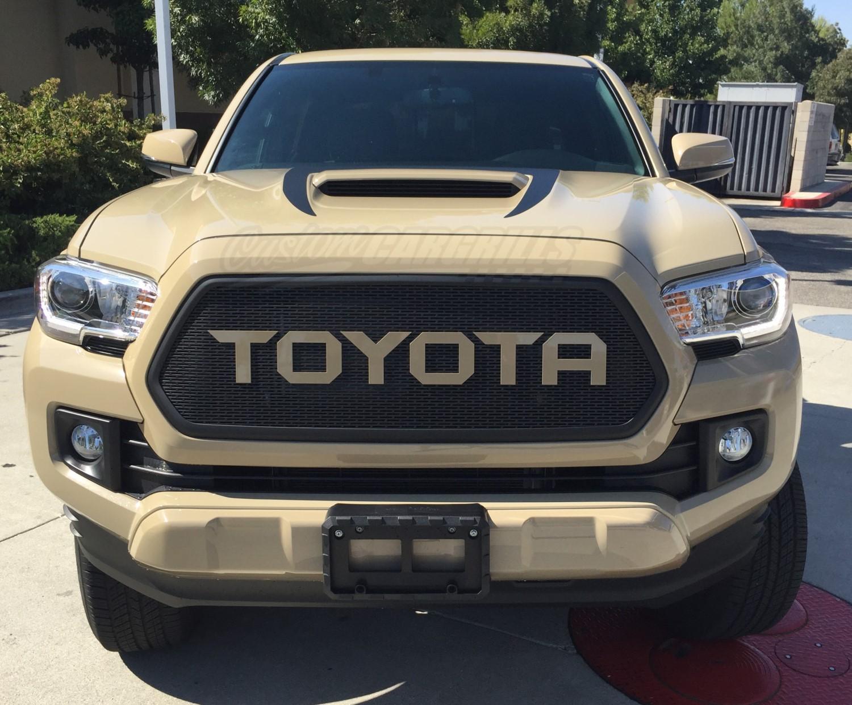 2016 17 Toyota Tacoma Mesh Grill Amp Bezel Amp Sharp Letters
