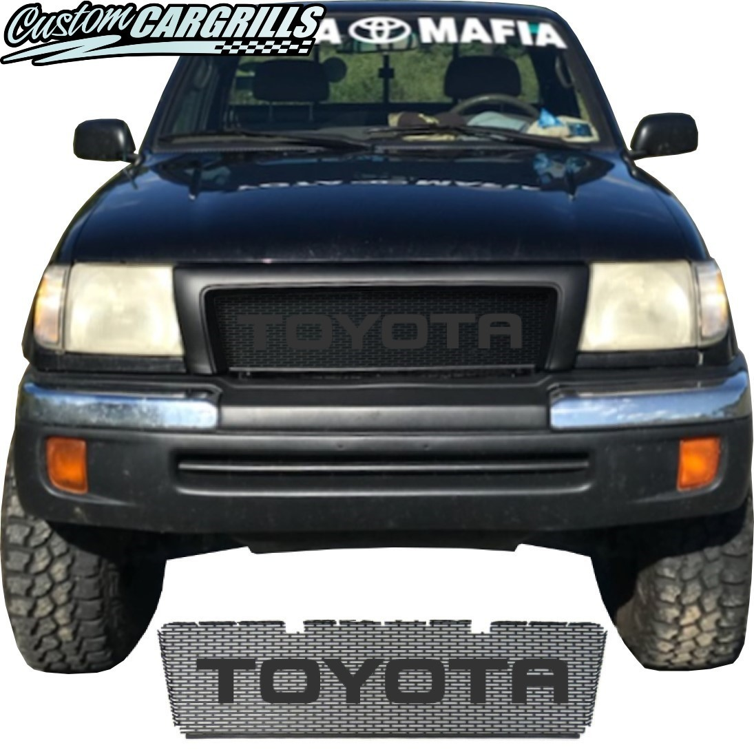 1998-2000 Toyota Tacoma Grill Mesh With Rounded Letters
