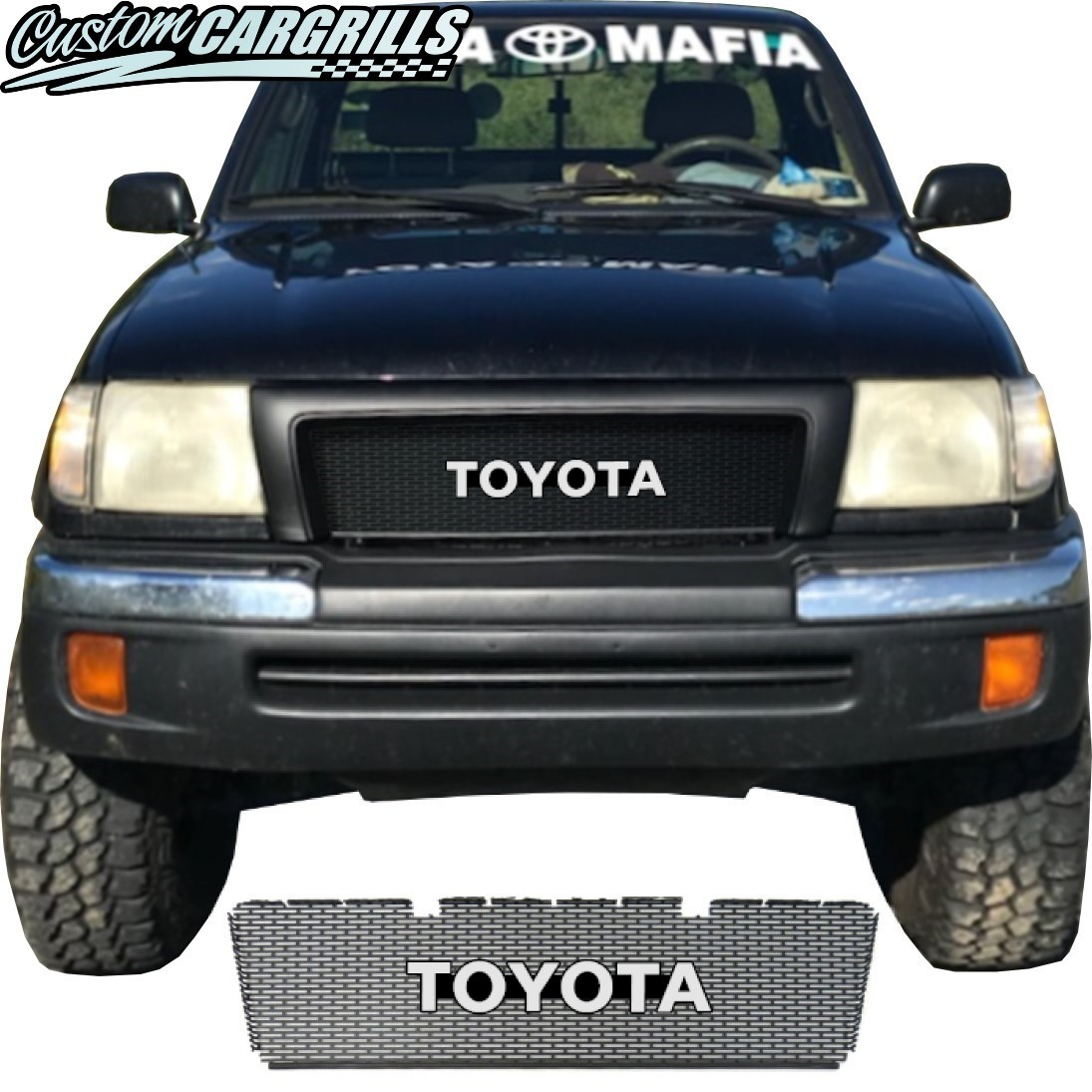 1998-2000 Toyota Tacoma Grill Mesh With Toyota Emblem