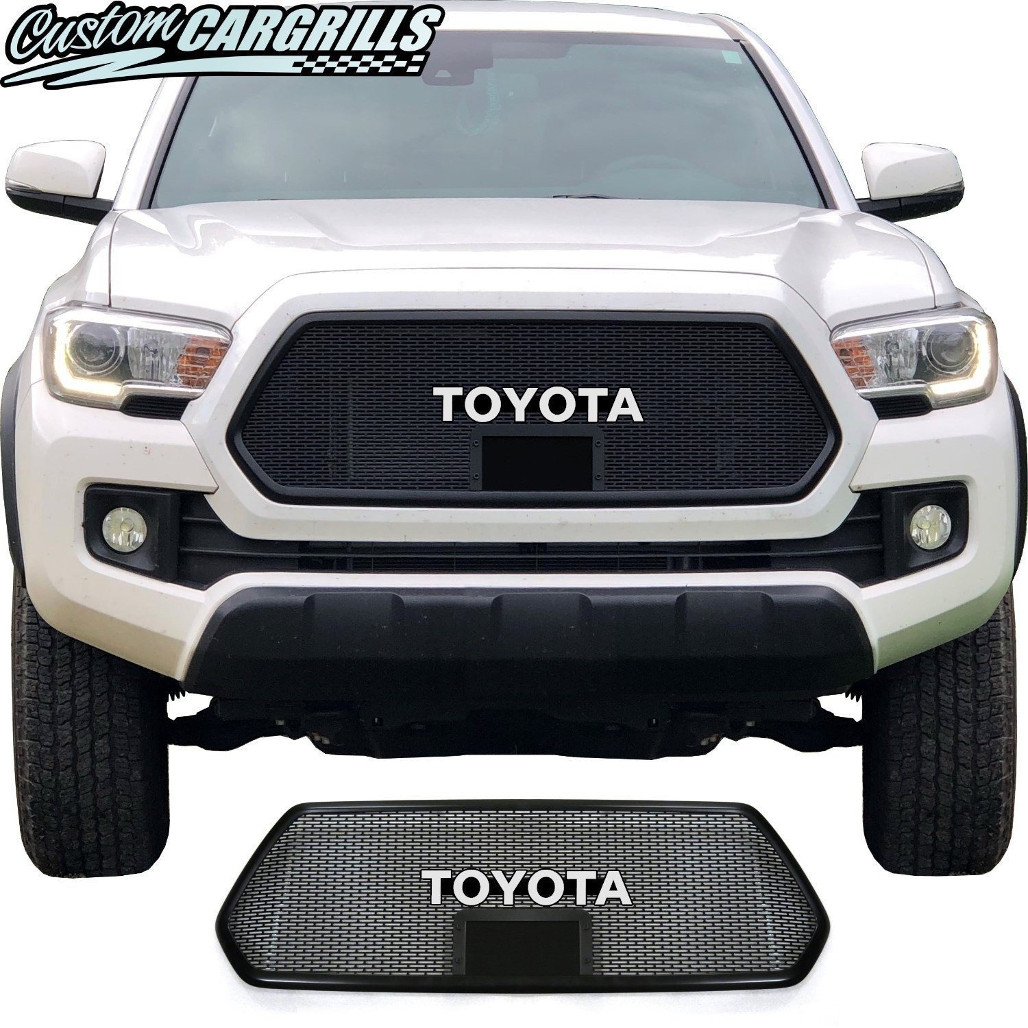 2018 - 2019 Toyota Tacoma Mesh Grill with Bezel and Emblem
