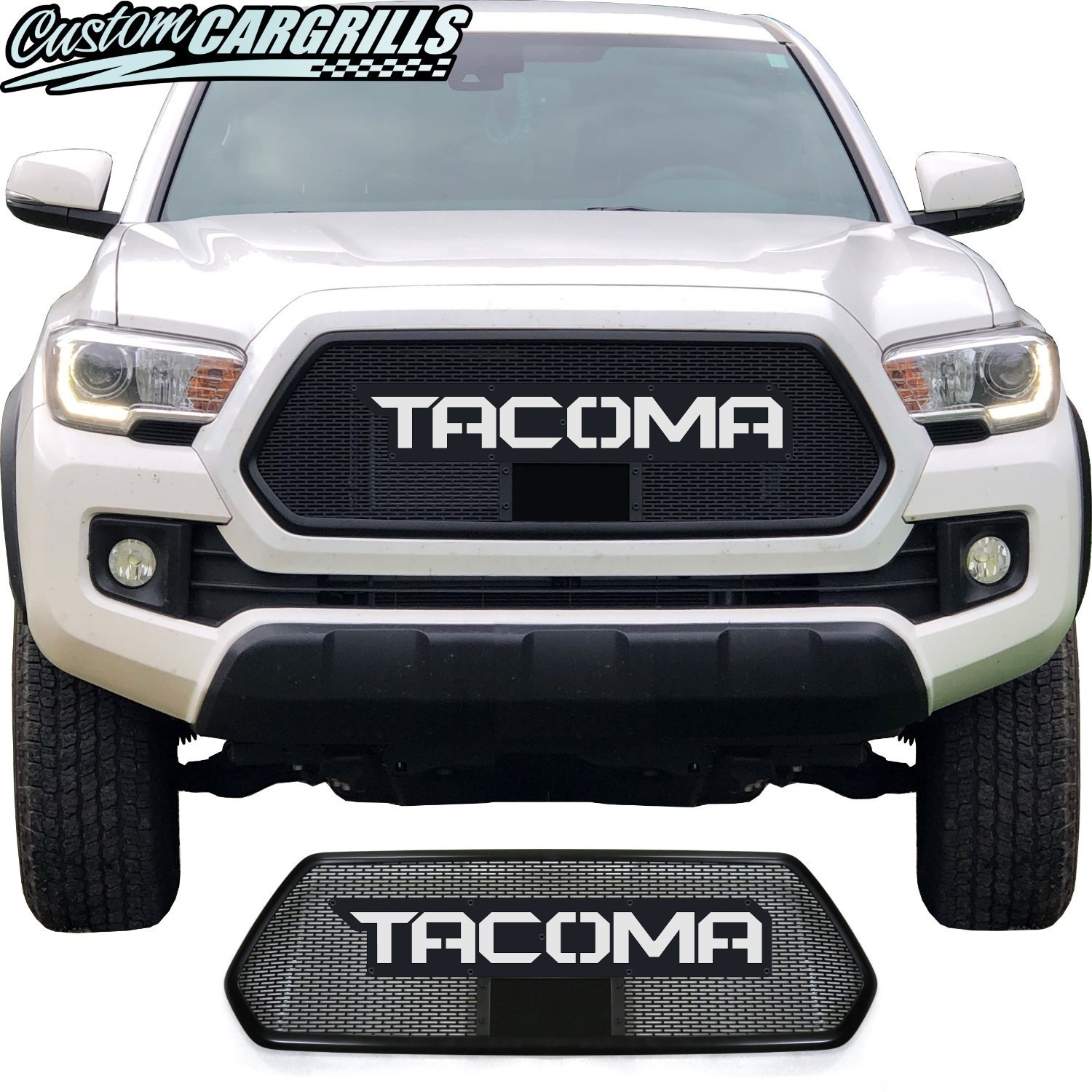 2018 - 2020 Toyota Tacoma Mesh Grill with Bezel and Lettering