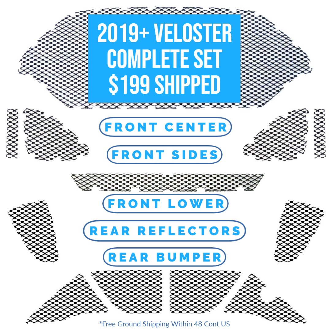 "2019 - 2020 Hyundai Veloster (Non ""N"" Version) Complete Mesh Set"