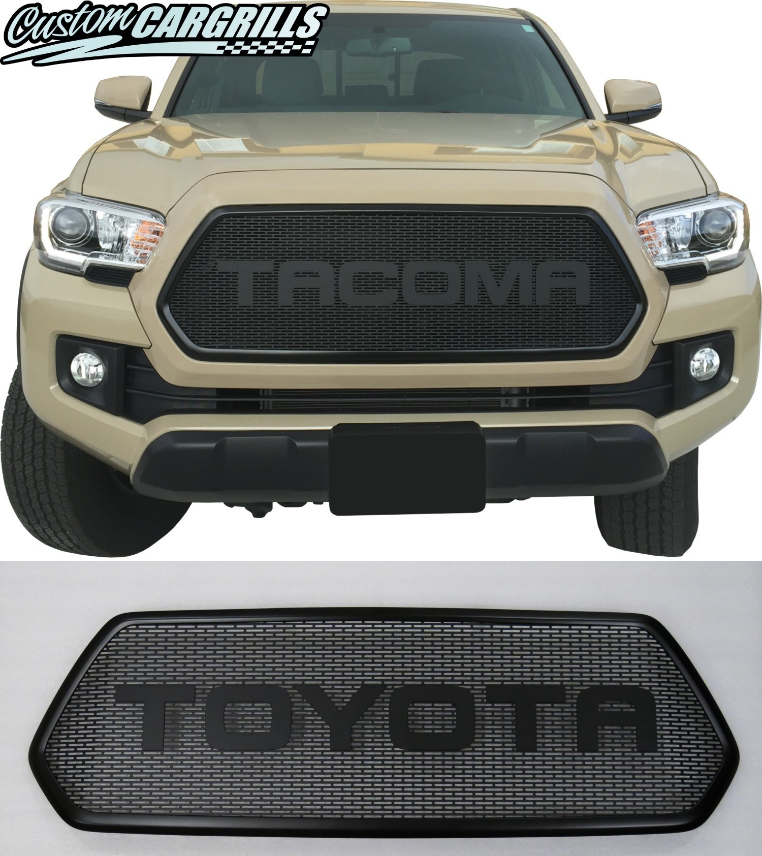 Custom Mesh Grills For 2016+ Toyota Tacomas By
