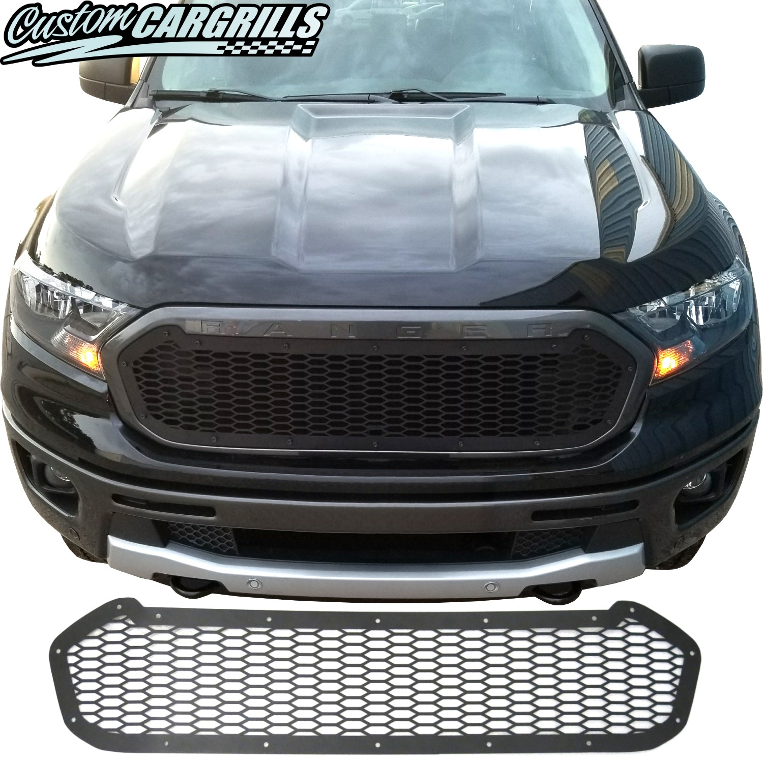 ford ranger mesh grill insert kit  customcargrills