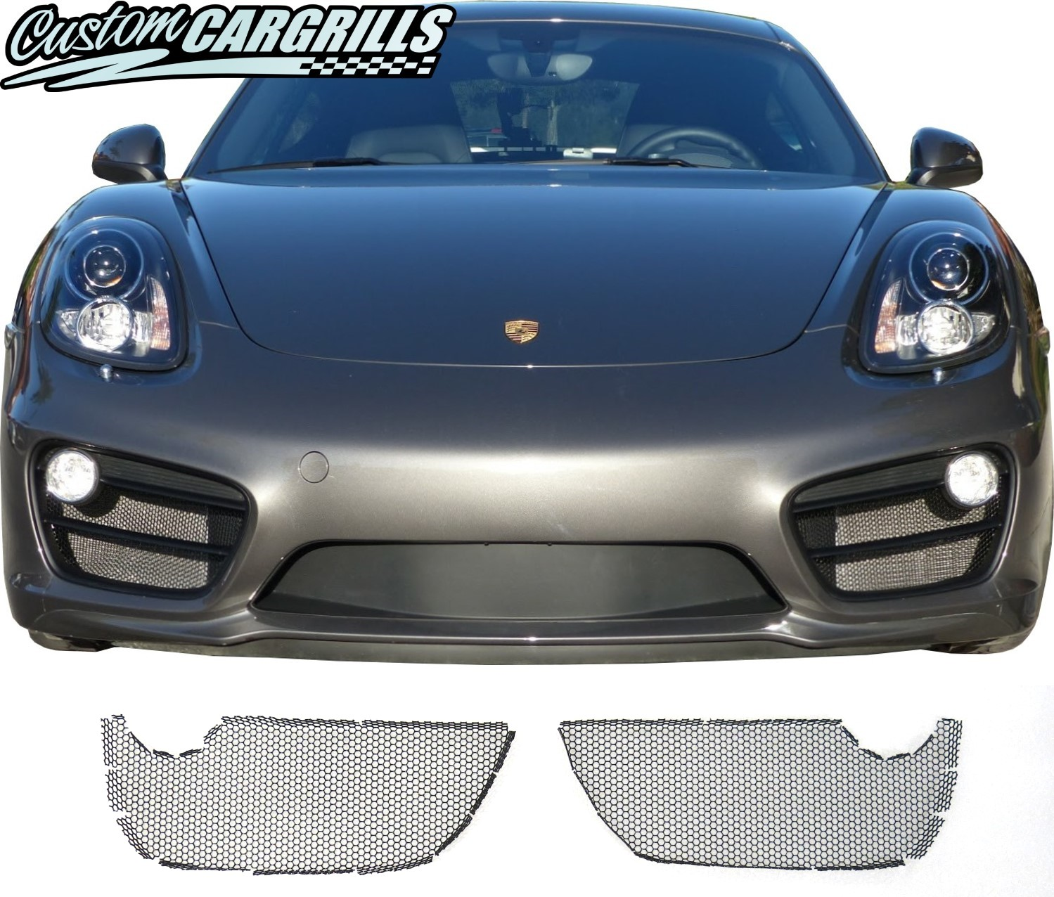 Custom Grill Mesh Kits for Porsche Vehicles by