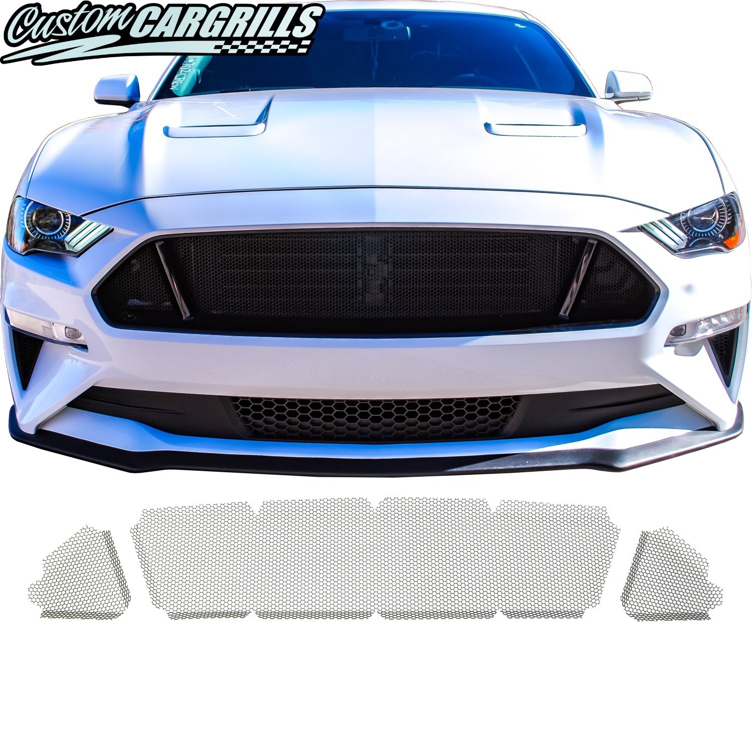 Honeycomb Mesh Grill Kit for 2018 - 2019 Ford Mustang GT