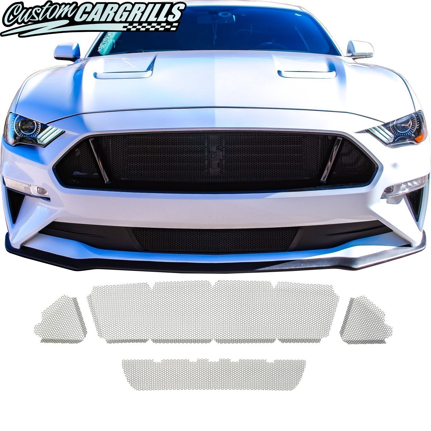 Honeycomb Mesh Grill Kit for 2018 - 2020 Ford Mustang GT
