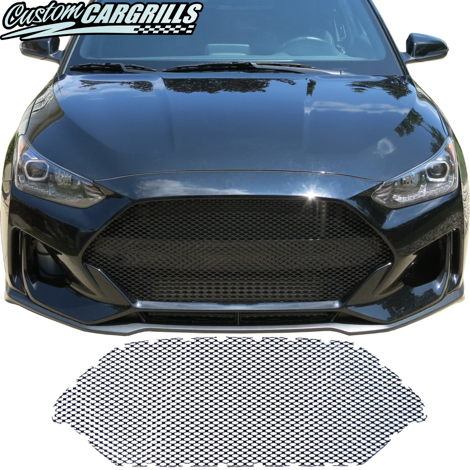"2019 - 2020 Hyundai Veloster (Non ""N"" Version) Mesh Grill Insert"