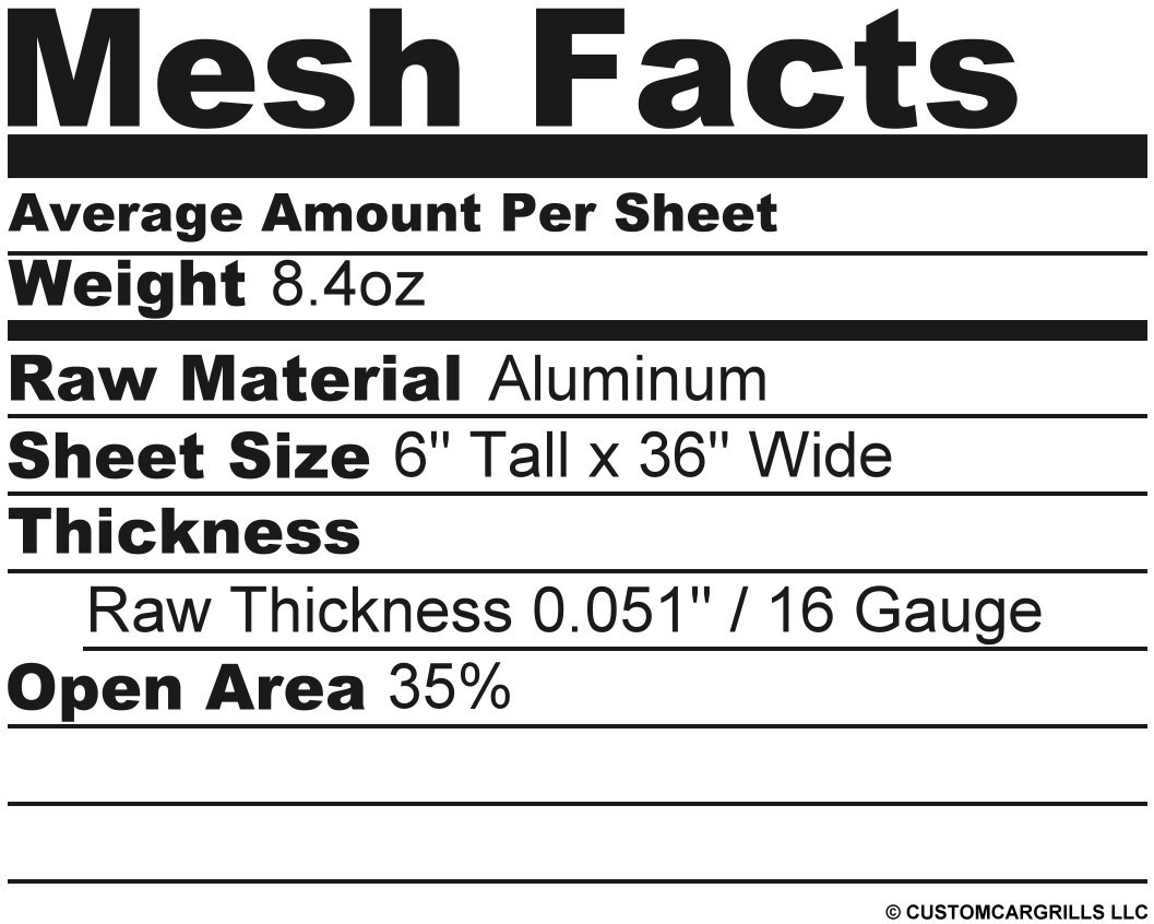 6in. x 36in. Diamond Extreme Grill Mesh Sheet - Silver #3