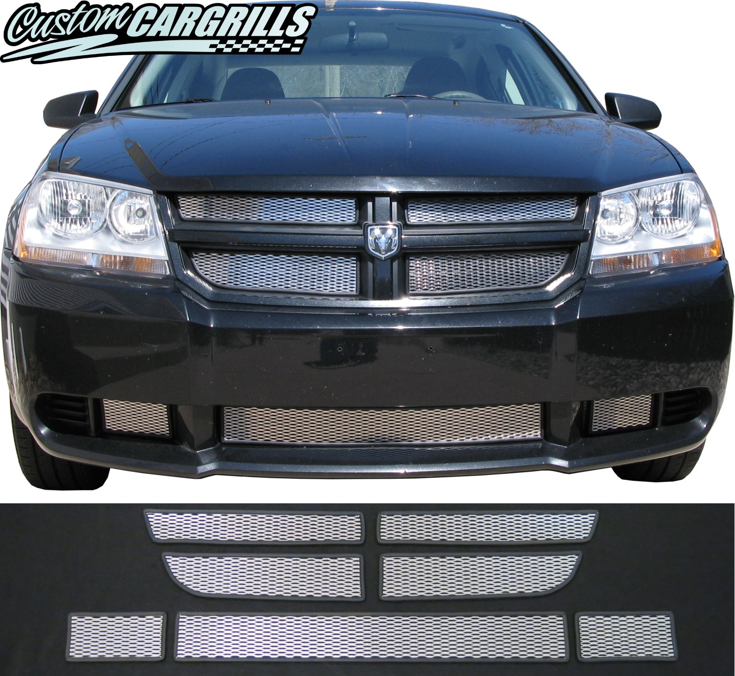 2007 - 2010 Dodge Avenger Mesh Grill Kit