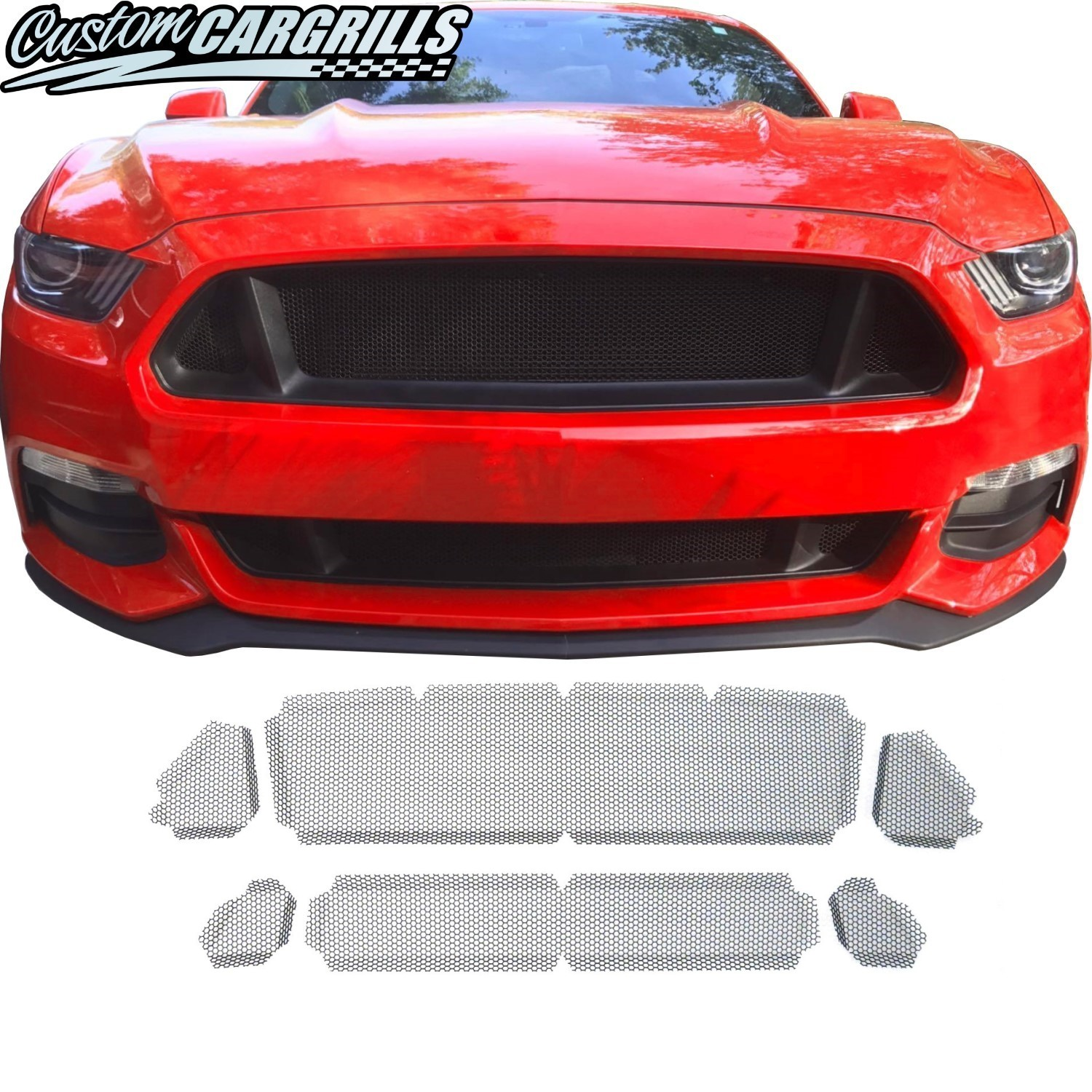 Honeycomb Mesh Grill Kit for 2015 - 2017 Ford Mustang GT