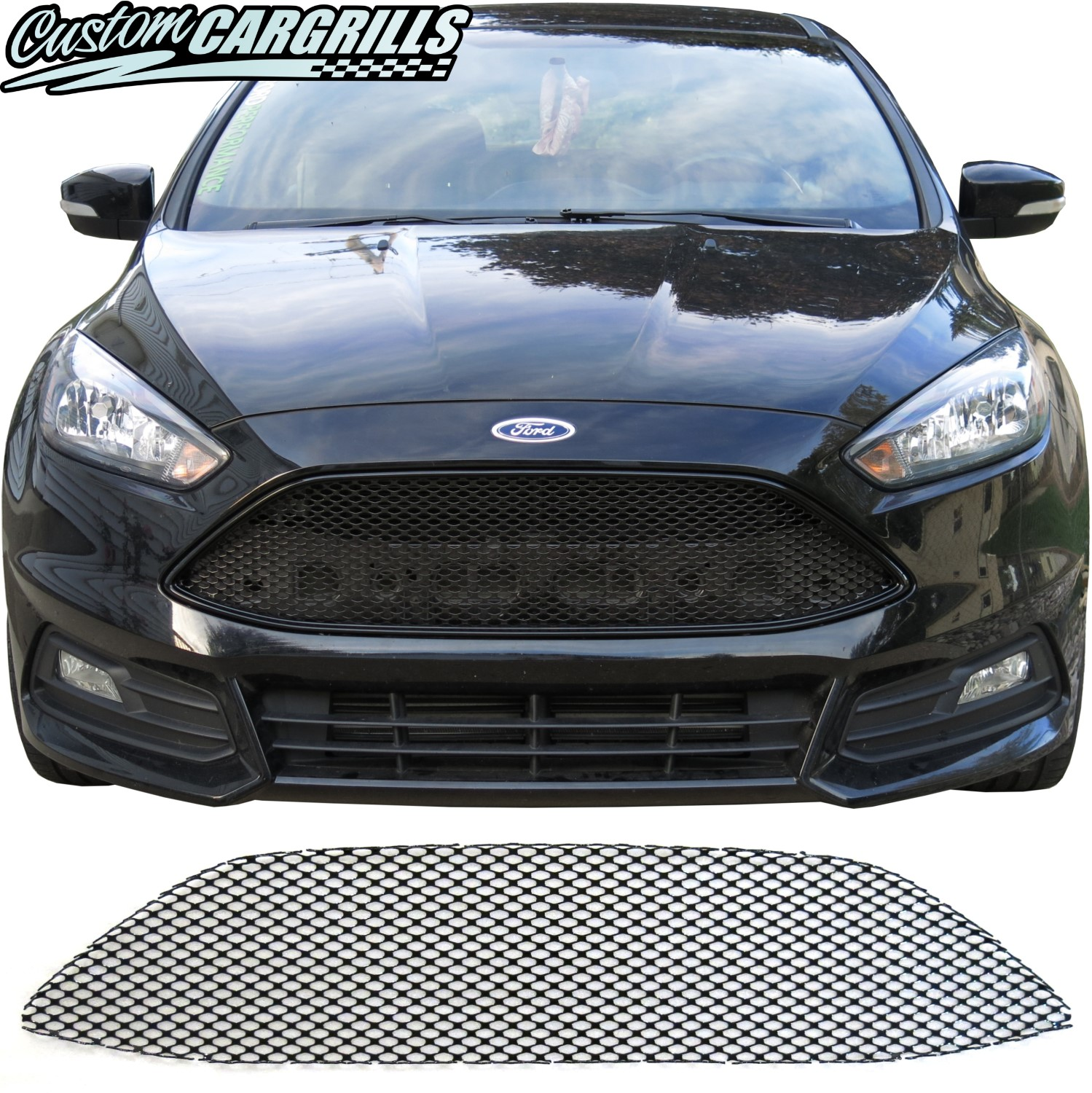 2015 - 2018 Ford Focus ST Mesh Grill Piece