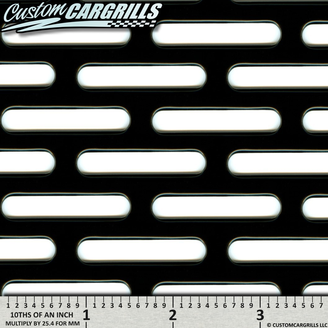 16in. x 48in. HD Perforated SS Grill Mesh Sheet - Gloss Black