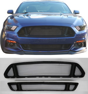 Honeycomb Mesh Grill Kit for 2015-16 Ford Mustang GT