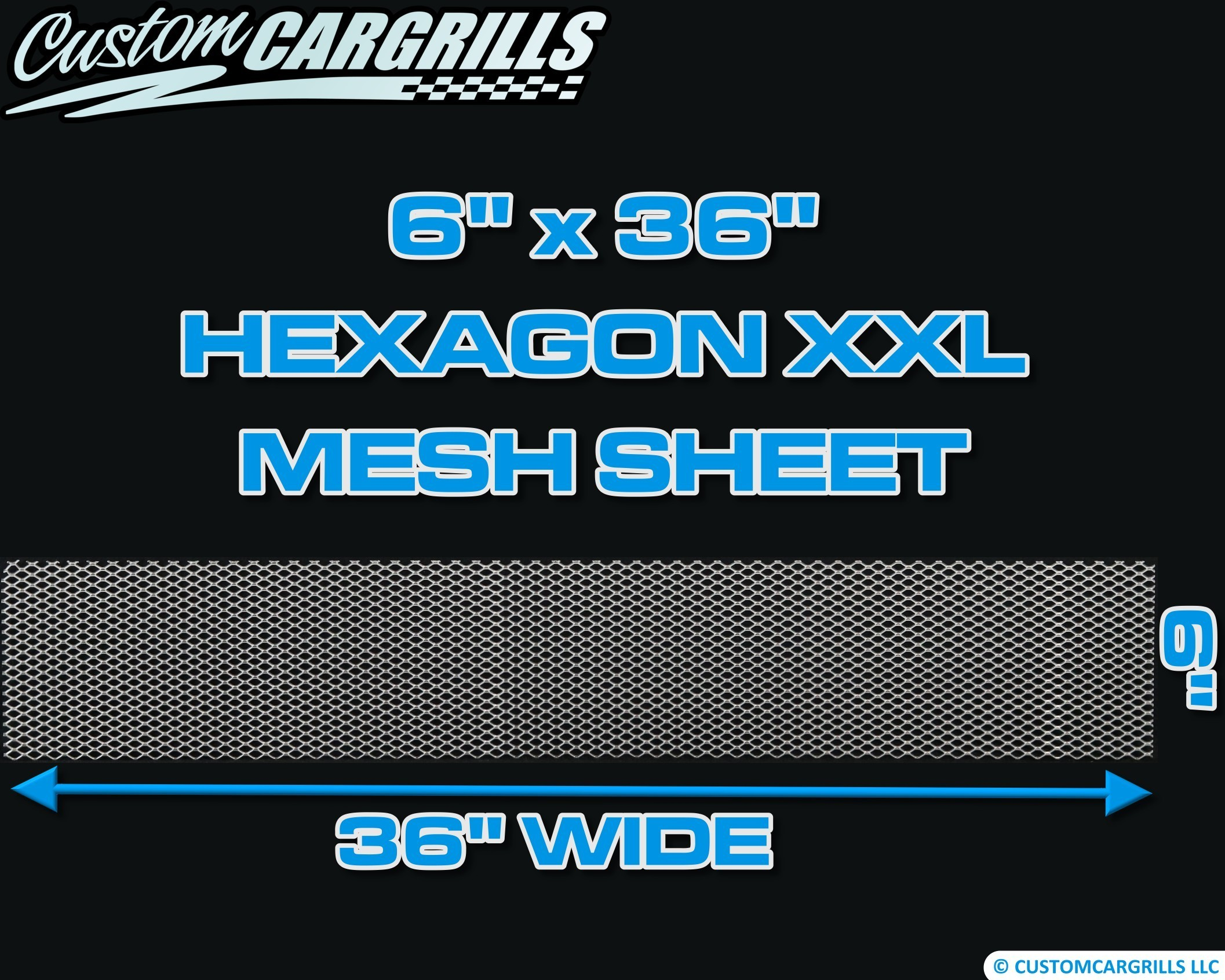 6in. x 36in. Hexagon XXL Grill Mesh Sheet  - Silver #4