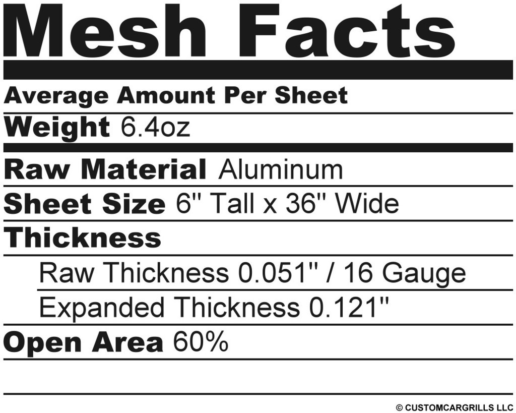 6in. x 36in. Hexagon XXL Grill Mesh Sheet  - Silver #3