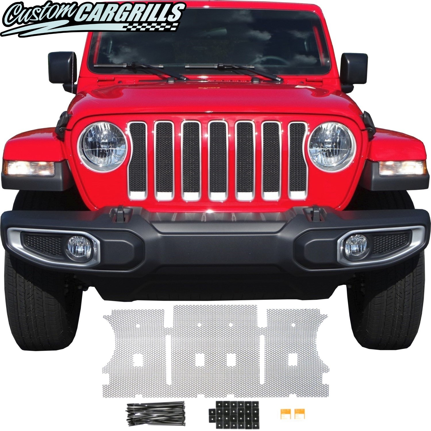 Mesh Grill Kit For 2018 - 2019 Jeep Wrangler JL