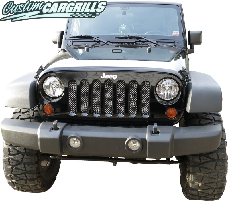 2007-16 Jeep Wrangler JK Mesh Grill Insert Kit By