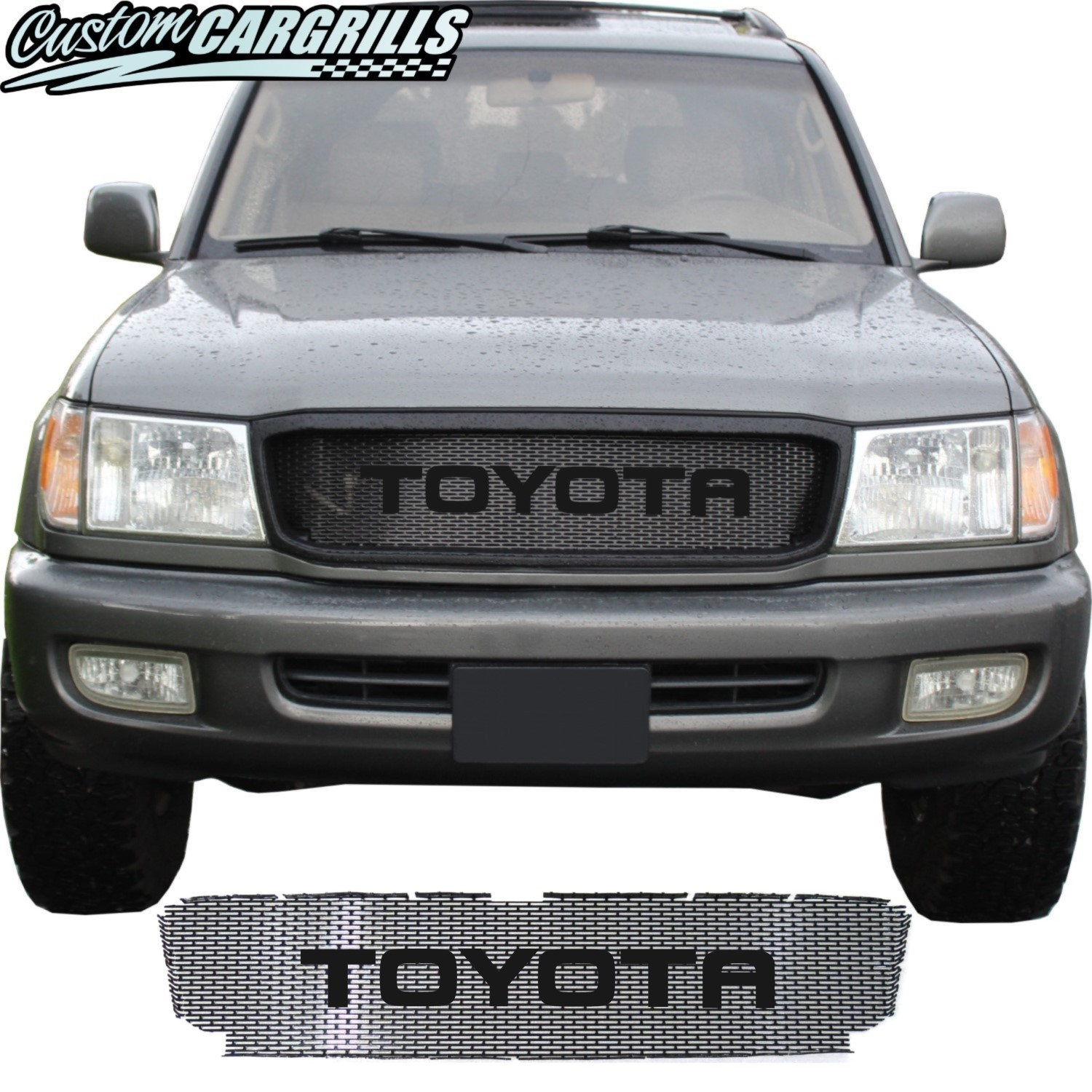 1998 - 2002 Toyota Land Cruiser Series 100 Grill Mesh and Big Letters