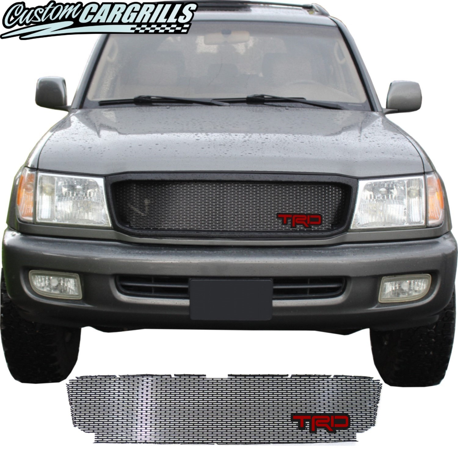 1998 - 2002 Toyota Land Cruiser Series 100 Grill Mesh and TRD Emblem