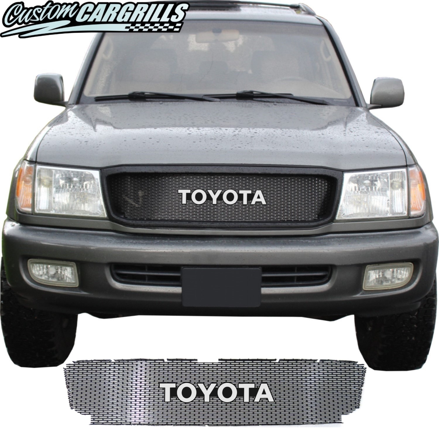 1998 - 2002 Toyota Land Cruiser Series 100 Grill Mesh and Toyota Emblem