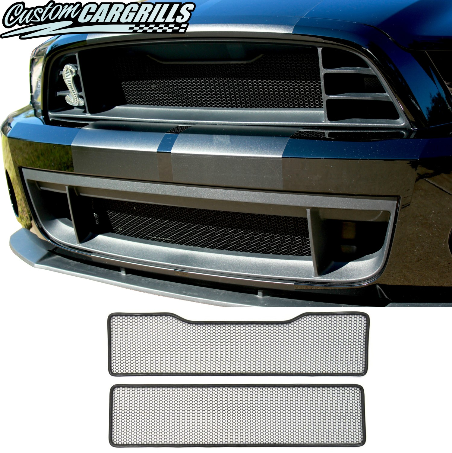 Mesh Grill Kit for 2013 - 2014 Ford Mustang GT500