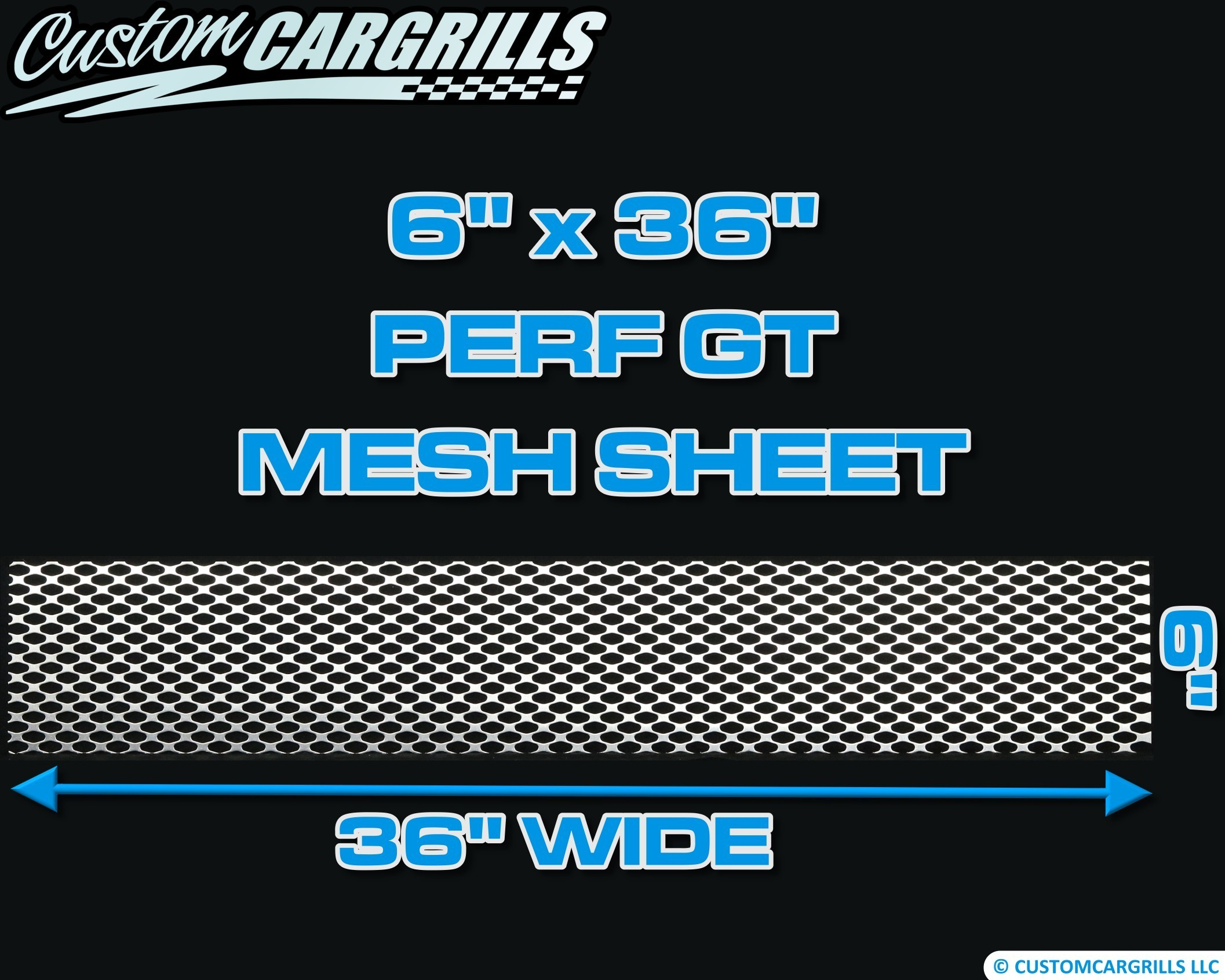 6in. x 36in. Perforated GT Grill Mesh Sheet - Silver #4