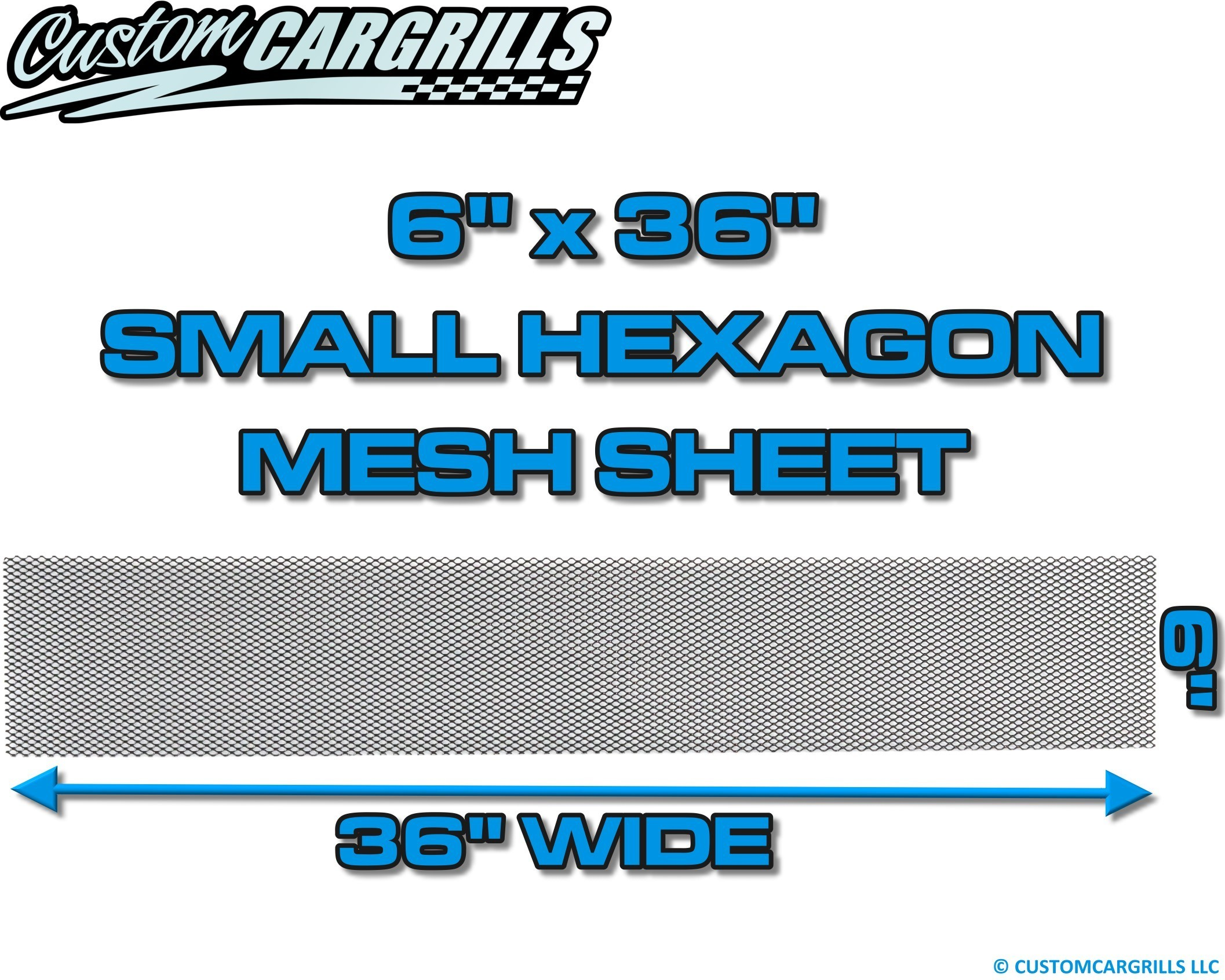 6in. x 36in. Small Hexagon Grill Mesh Sheet  - Gloss Black #4