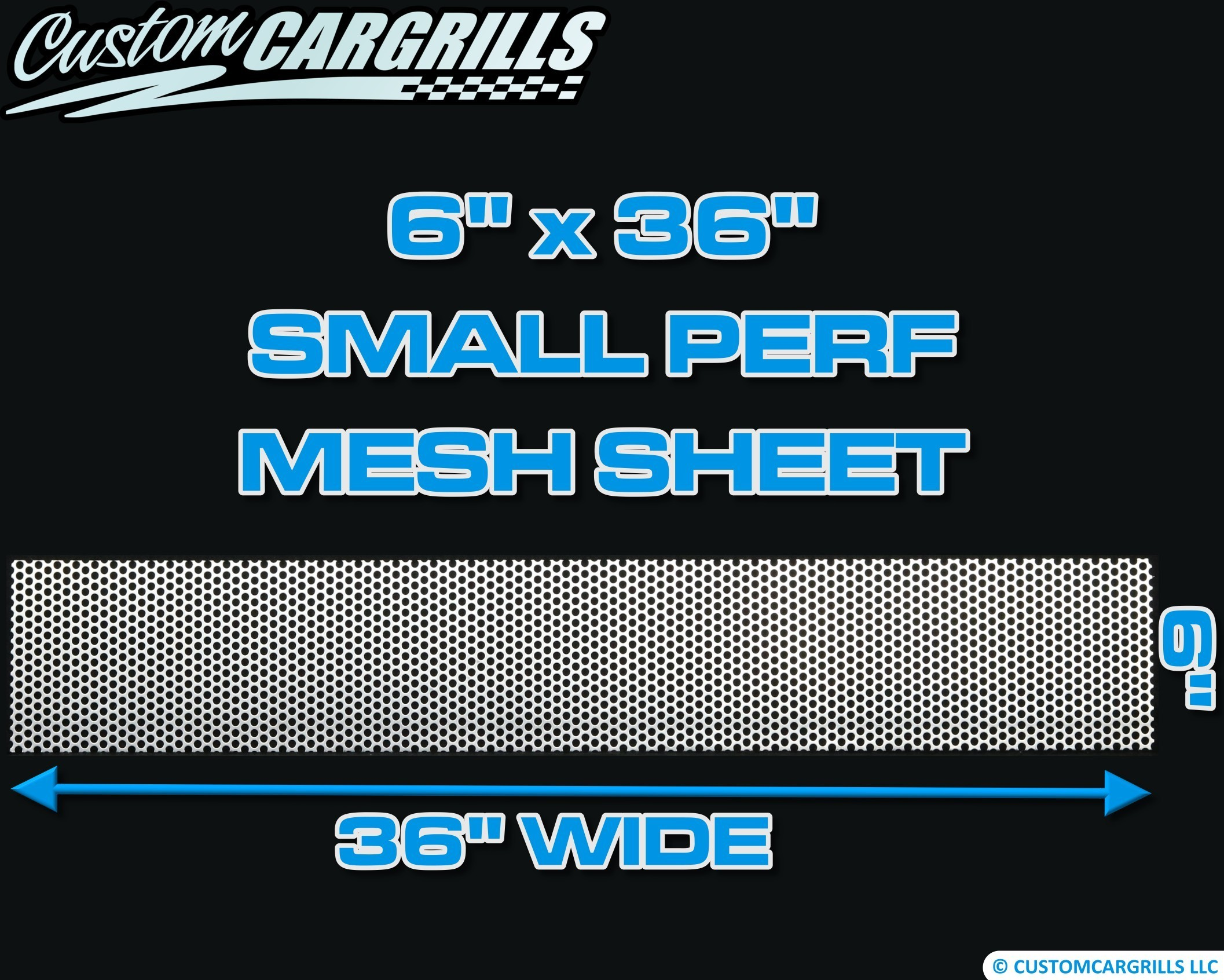 6in. x 36in. Small Perforated Grill Mesh Sheet - Silver #4