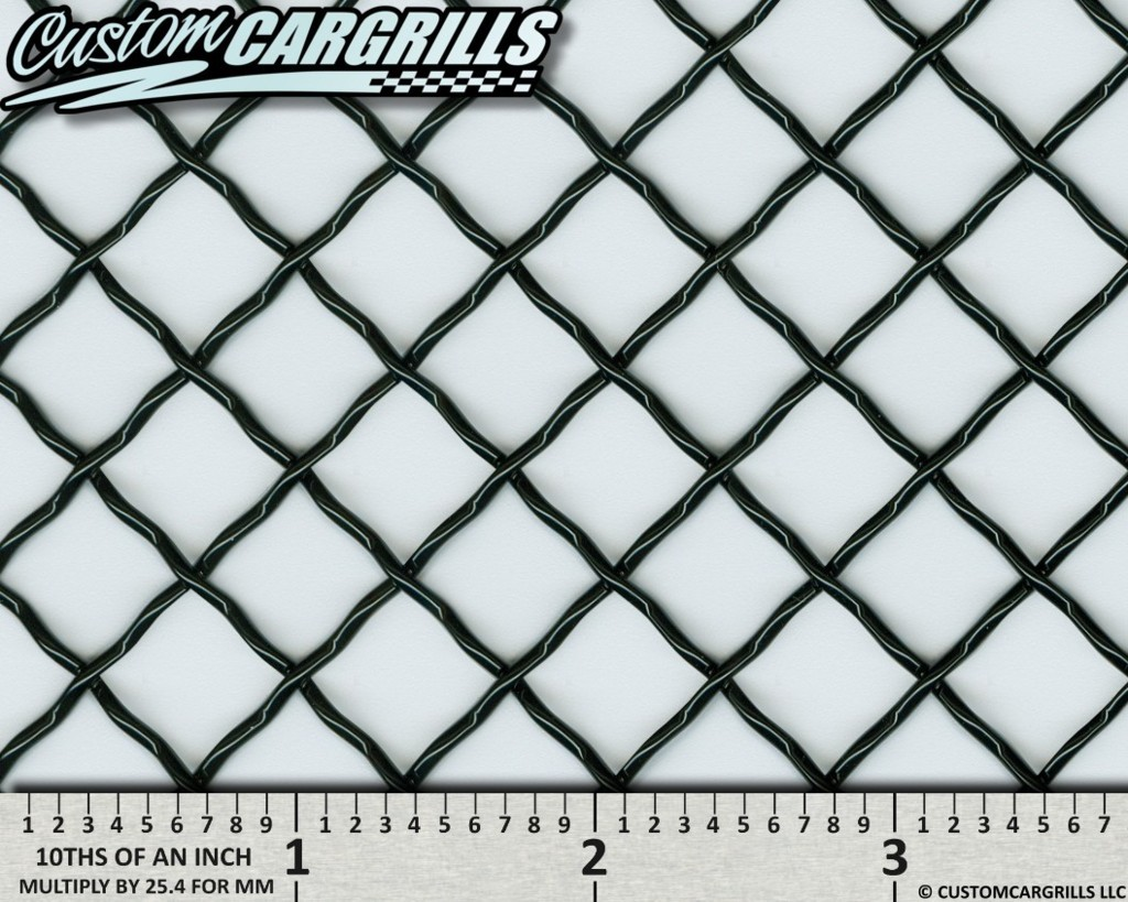 12in. x 48in. Stainless 0.50 Woven Wire Grill Mesh Sheets - Gloss Black
