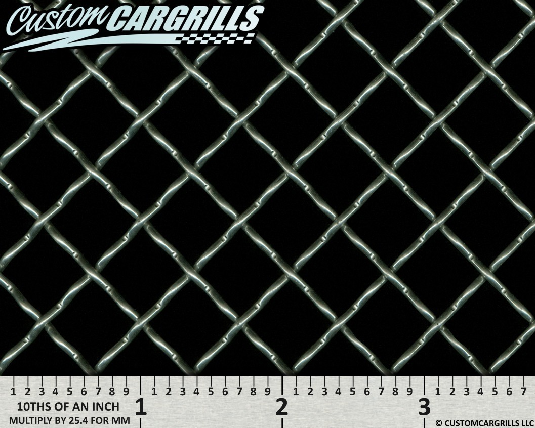 12in. x 48in. Stainless 0.50 Woven Wire Grill Mesh Sheets - Silver
