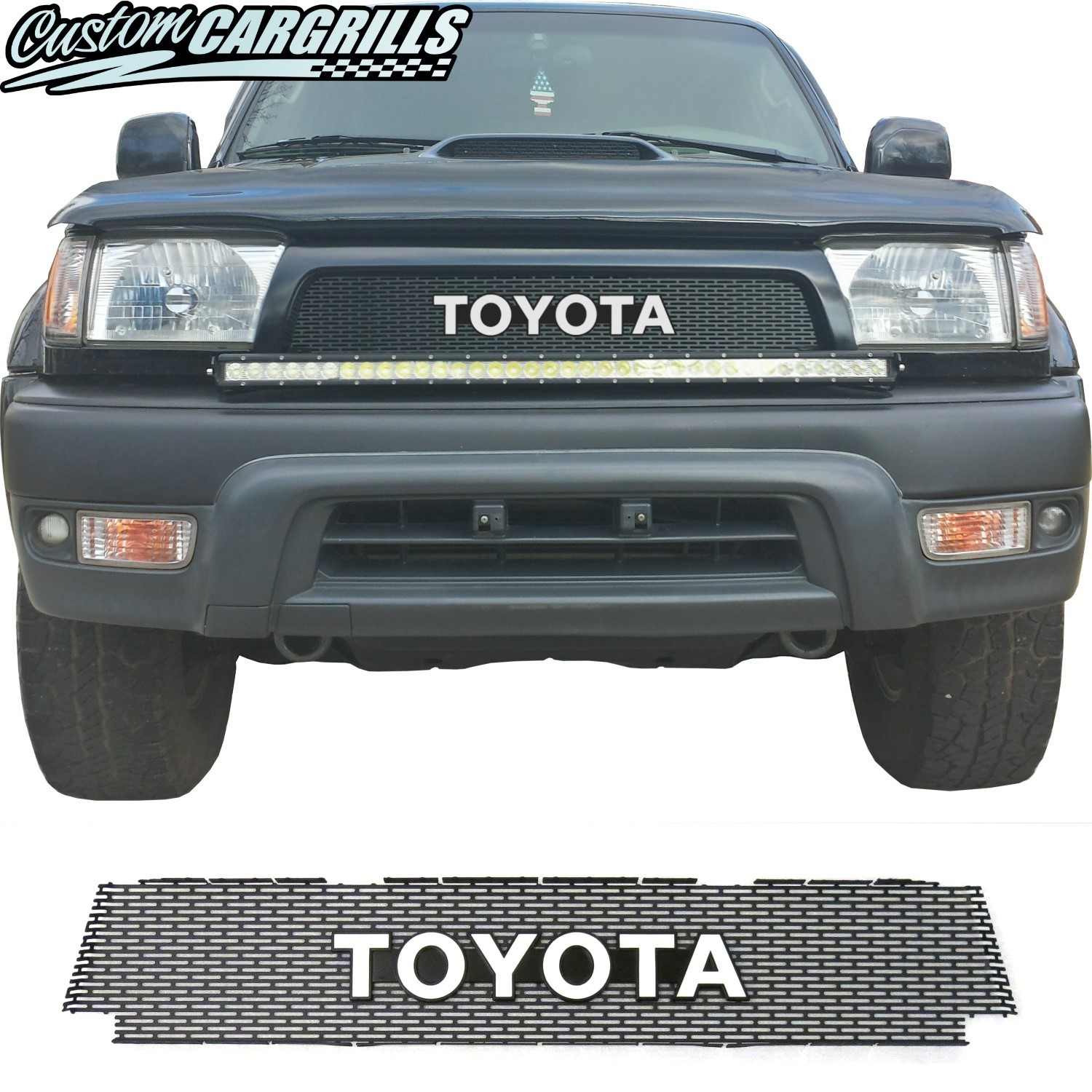 1996-98 (and 99-02*) Toyota 4Runner Grill Mesh With Toyota Emblem