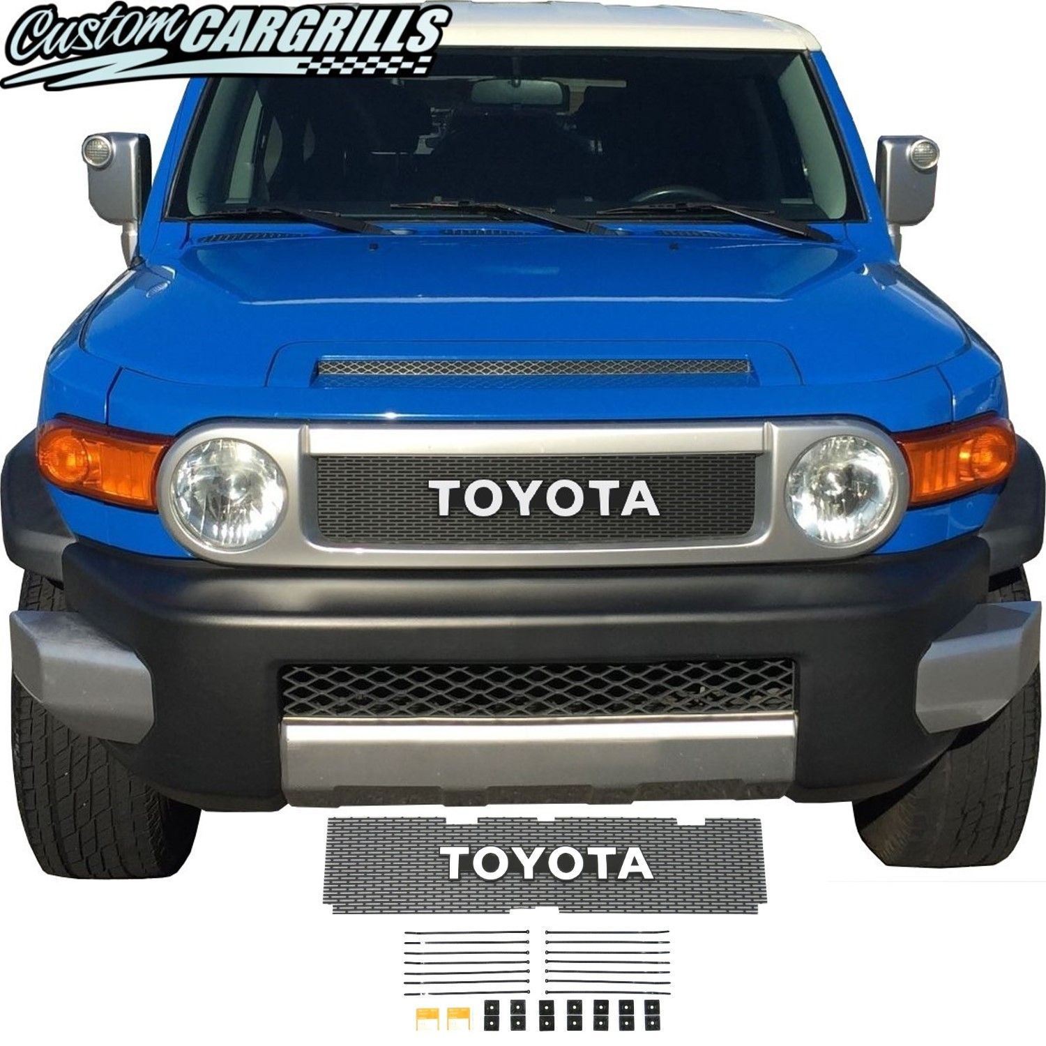 2006-14 Toyota FJ Cruiser Grill Mesh With Toyota Emblem