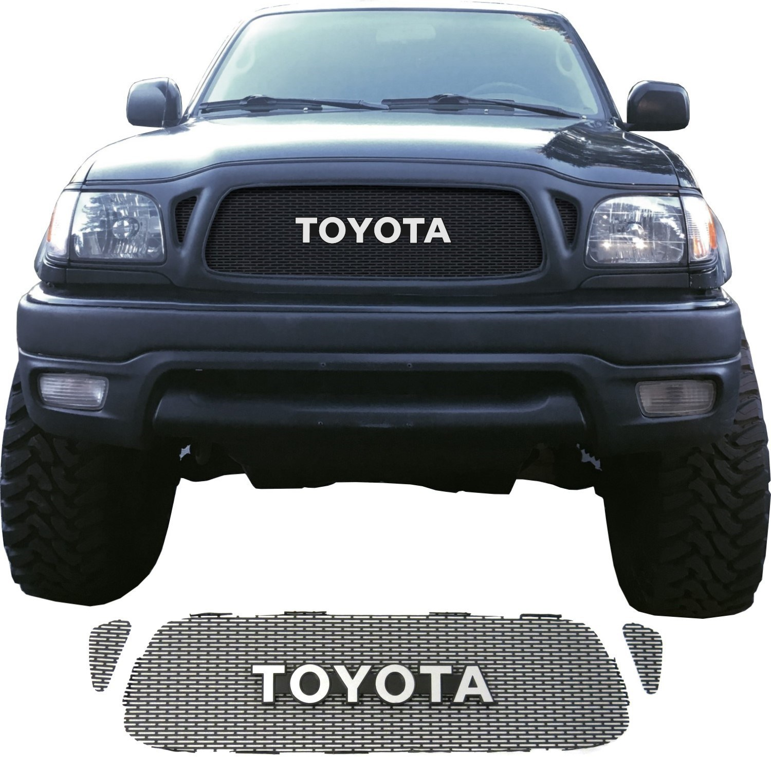 2001-04 Toyota Tacoma Grill Mesh With Toyota Emblem