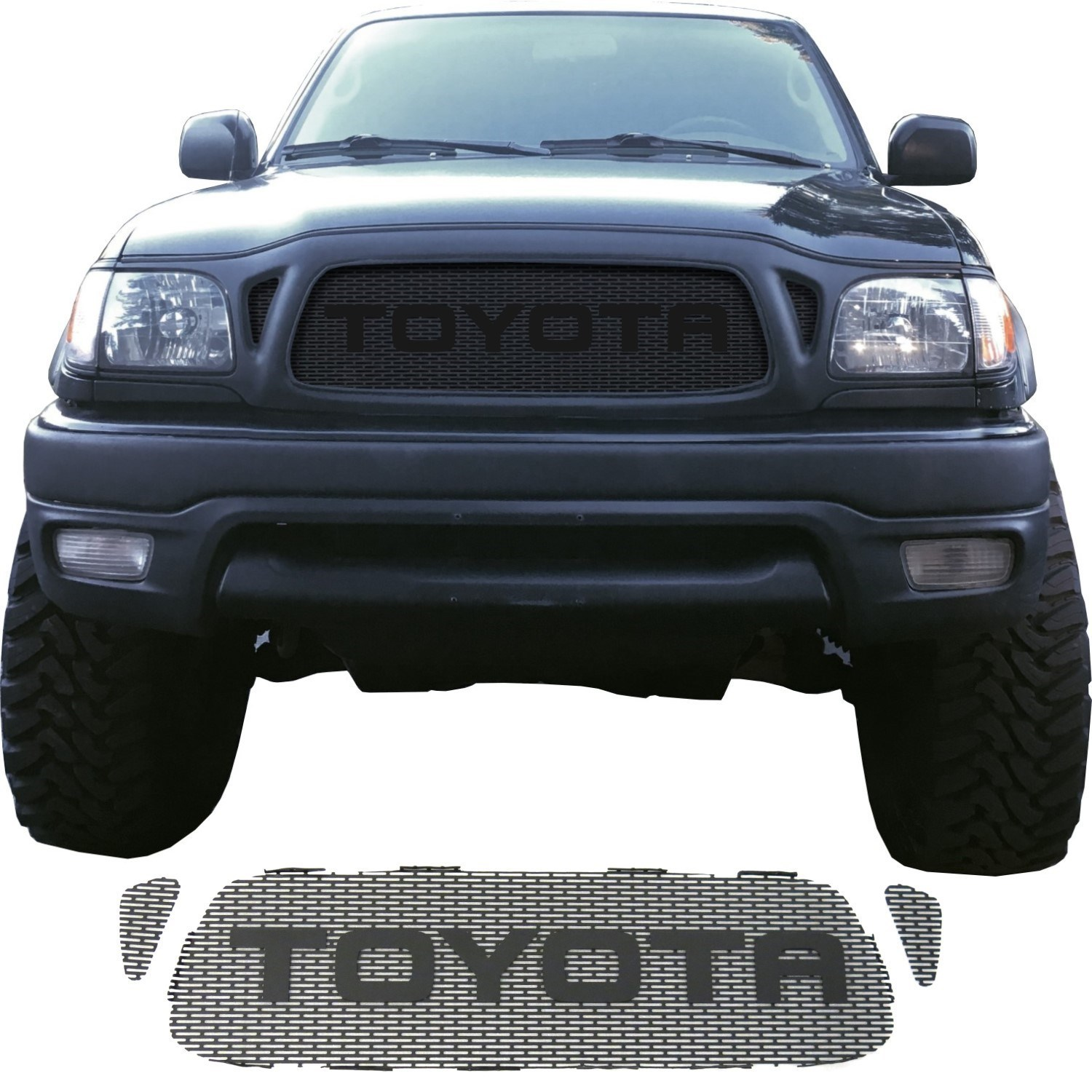 2001-04 Toyota Tacoma Grill Mesh With Rounded Letters