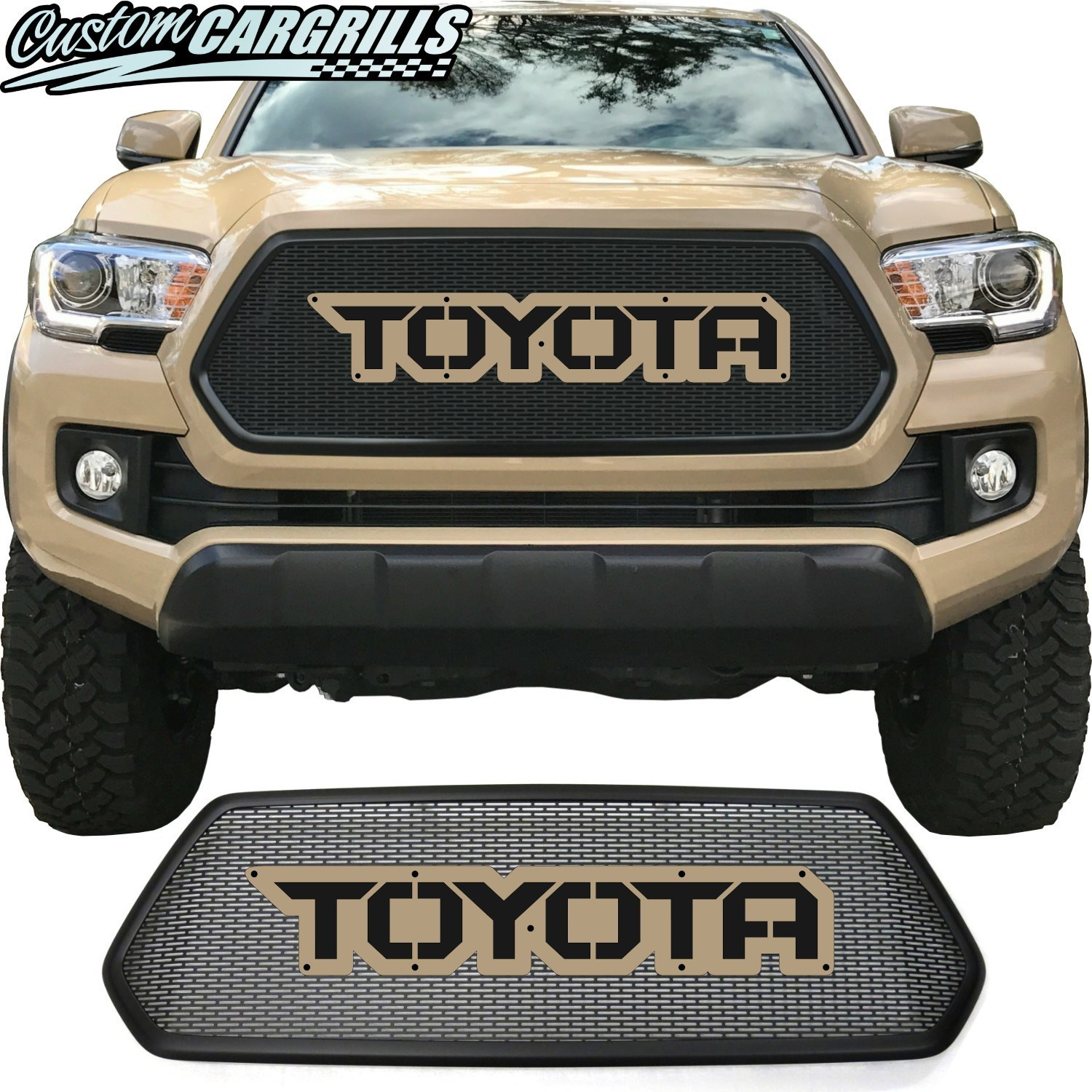 2016 - 2017 Toyota Tacoma Mesh Grill with Bezel and Letter Plate