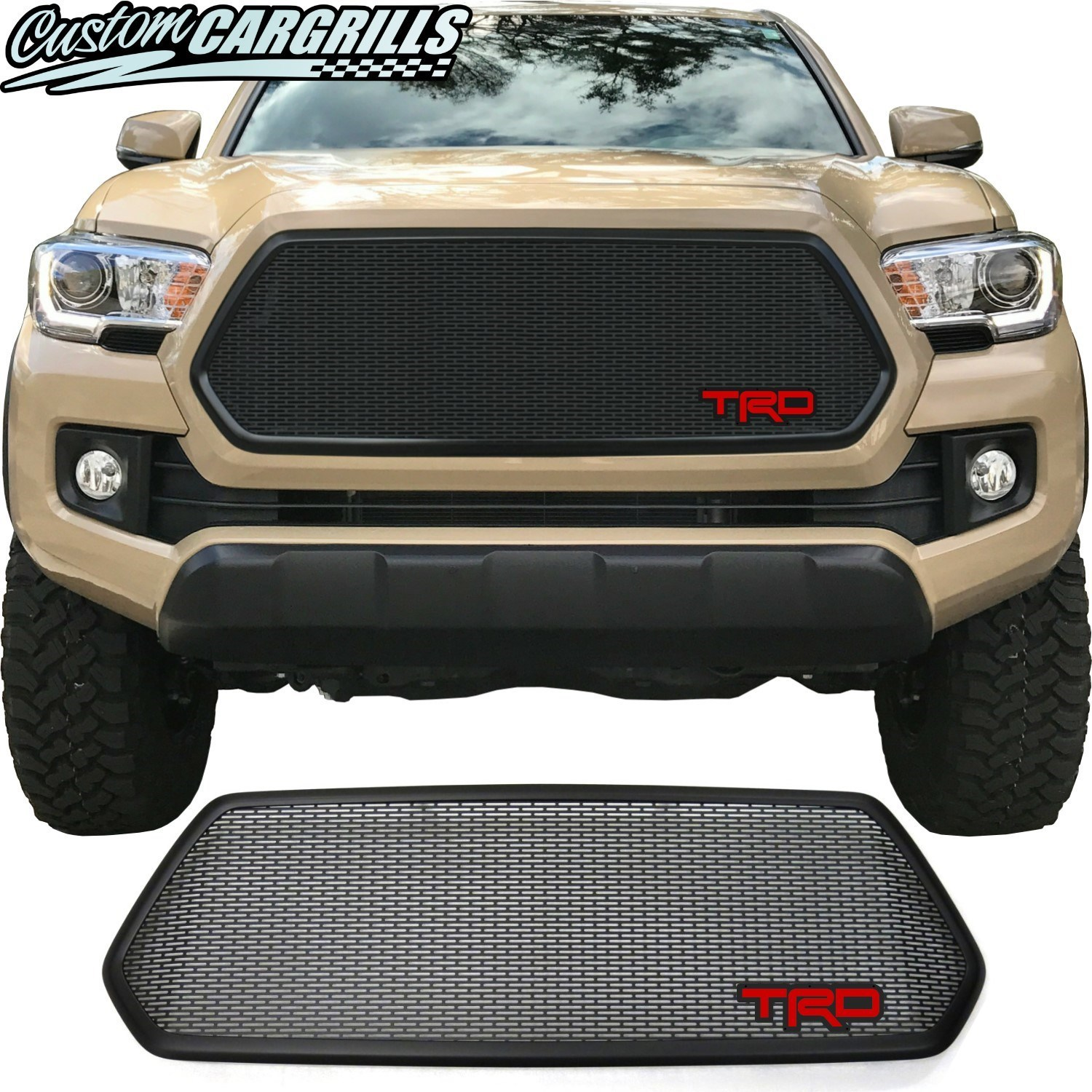 2016 - 2017 Toyota Tacoma Mesh Grill with Bezel and TRD