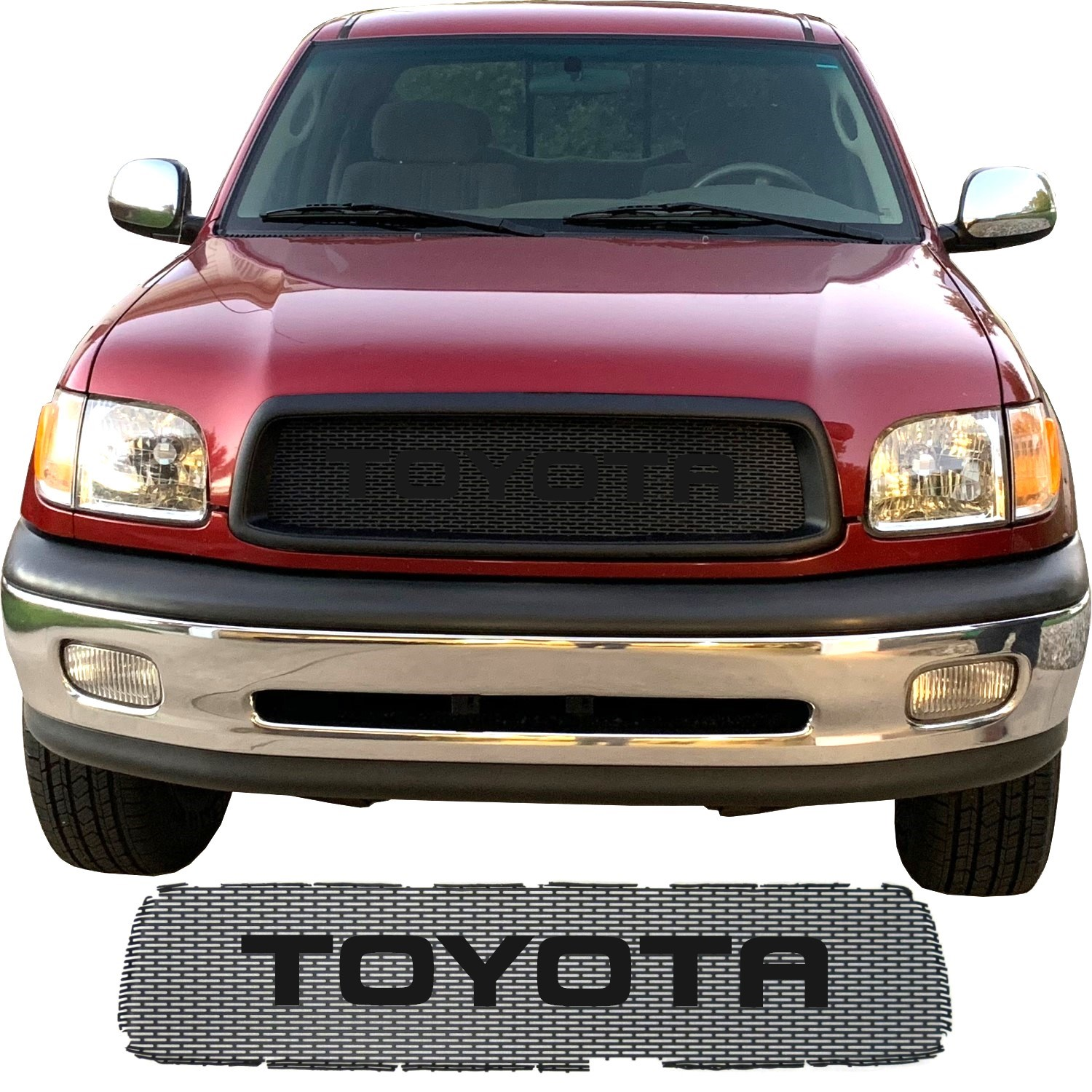 2000-02 Toyota Tundra Grill Mesh with Big Lettering