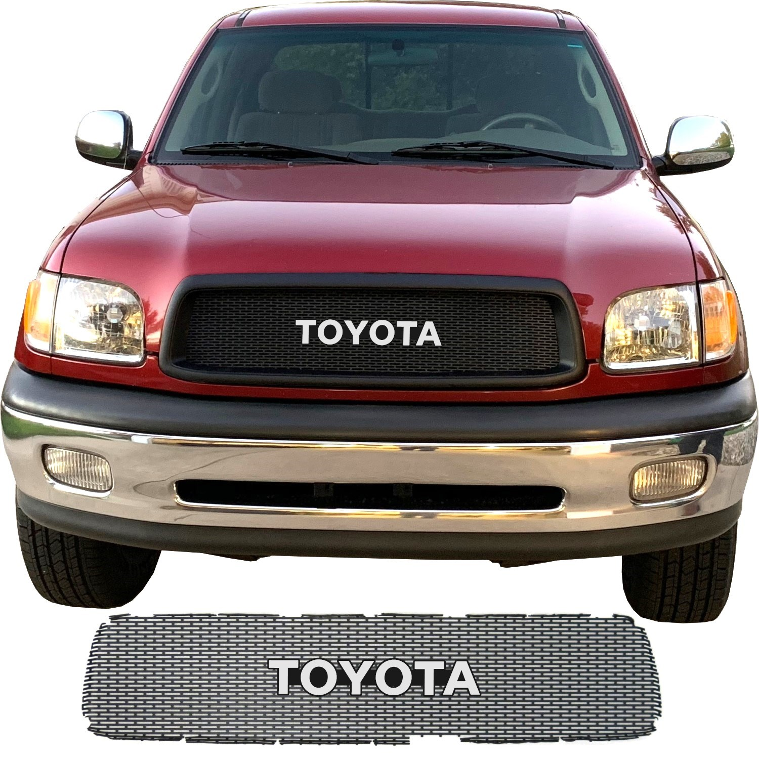 2000-02 Toyota Tundra Grill Mesh with Toyota Emblem
