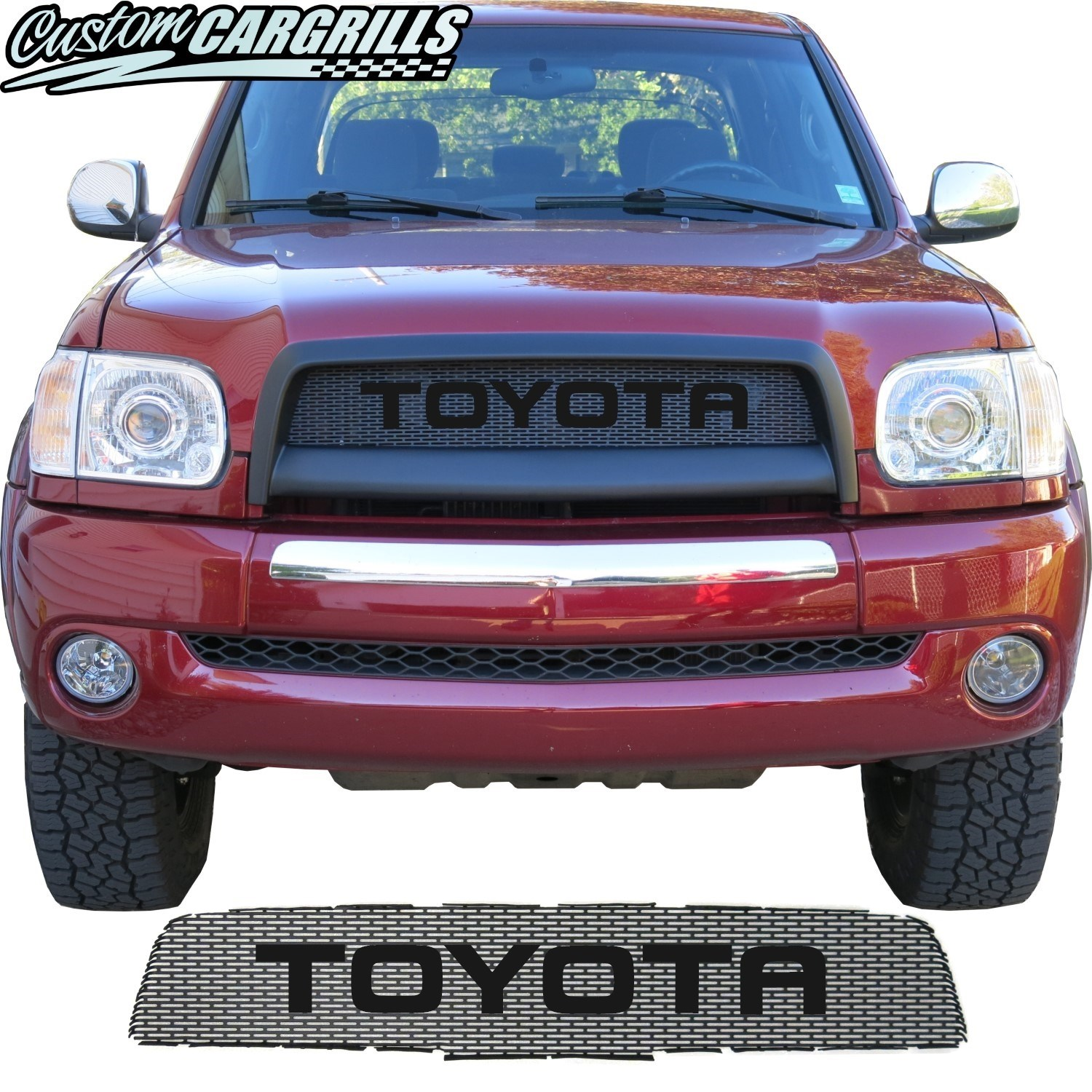 2003-06 Toyota Tundra Grill Mesh with Big Lettering