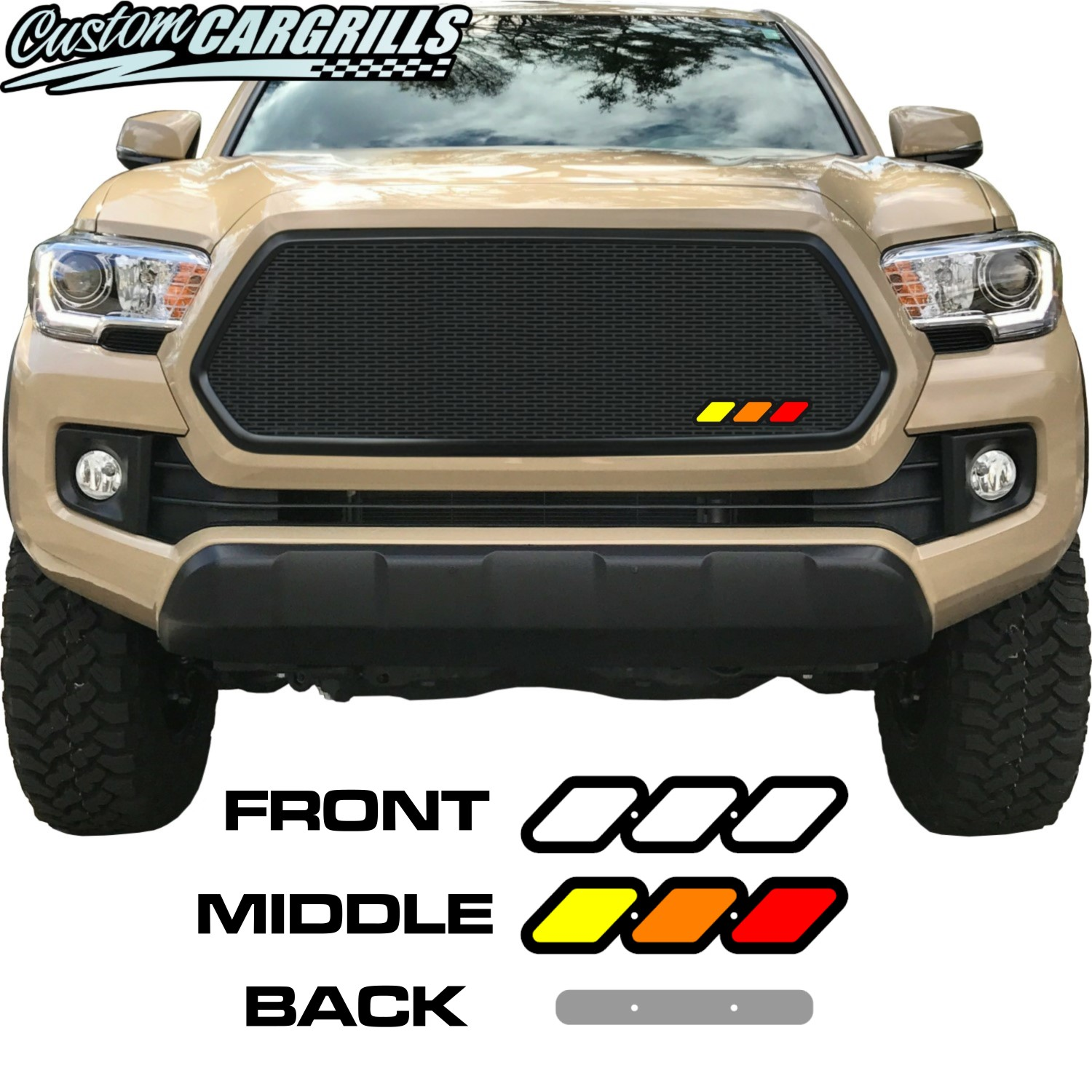 1.75in x 7in Tri-Color Emblem for Toyota Grilles
