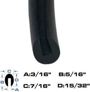 Neoprene Rubber Edge Trim Jumbo