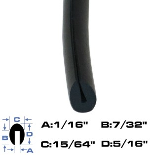 Neoprene Rubber Edge Trim (Recommended for most applications)