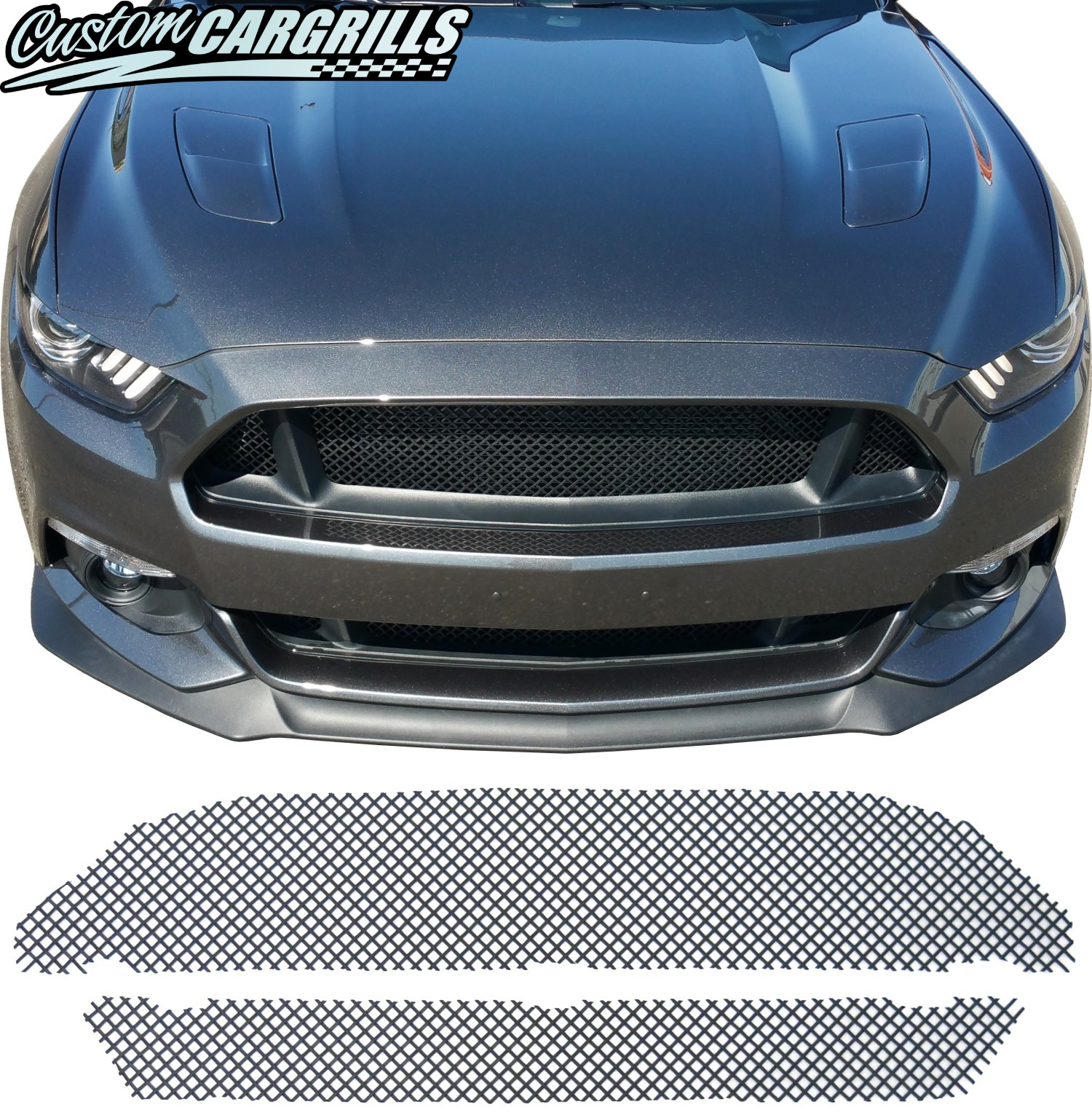 Woven Mesh Grill Kit for 2015 - 2017 Ford Mustang GT