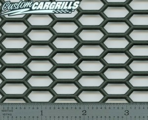 15.5in. x 47in. Plastic Diamond Grill Mesh Sheet - Black